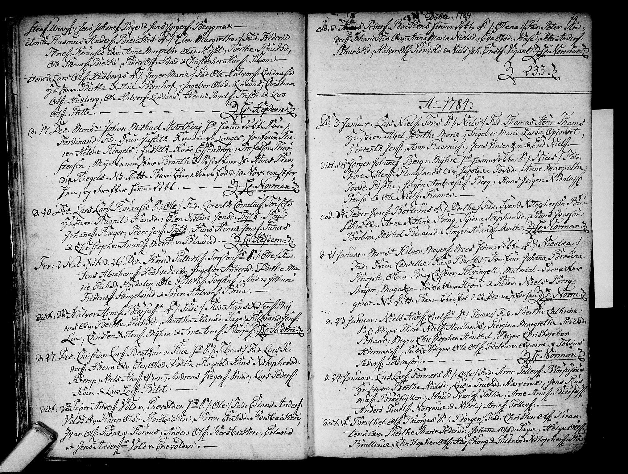 SAKO, Kongsberg kirkebøker, F/Fa/L0006: Ministerialbok nr. I 6, 1783-1797, s. 14
