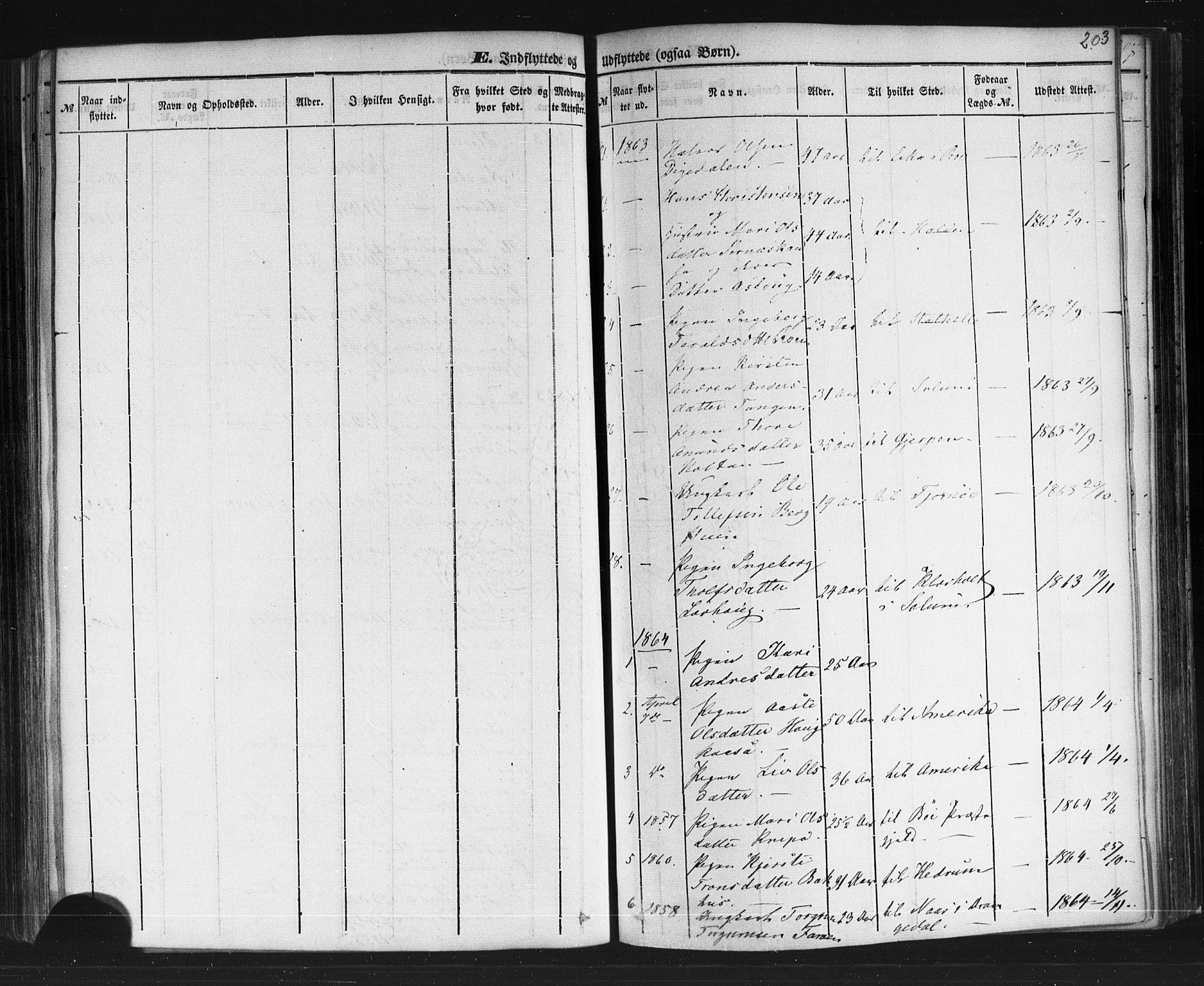 SAKO, Sauherad kirkebøker, F/Fb/L0001: Ministerialbok nr. II 1, 1851-1877, s. 203