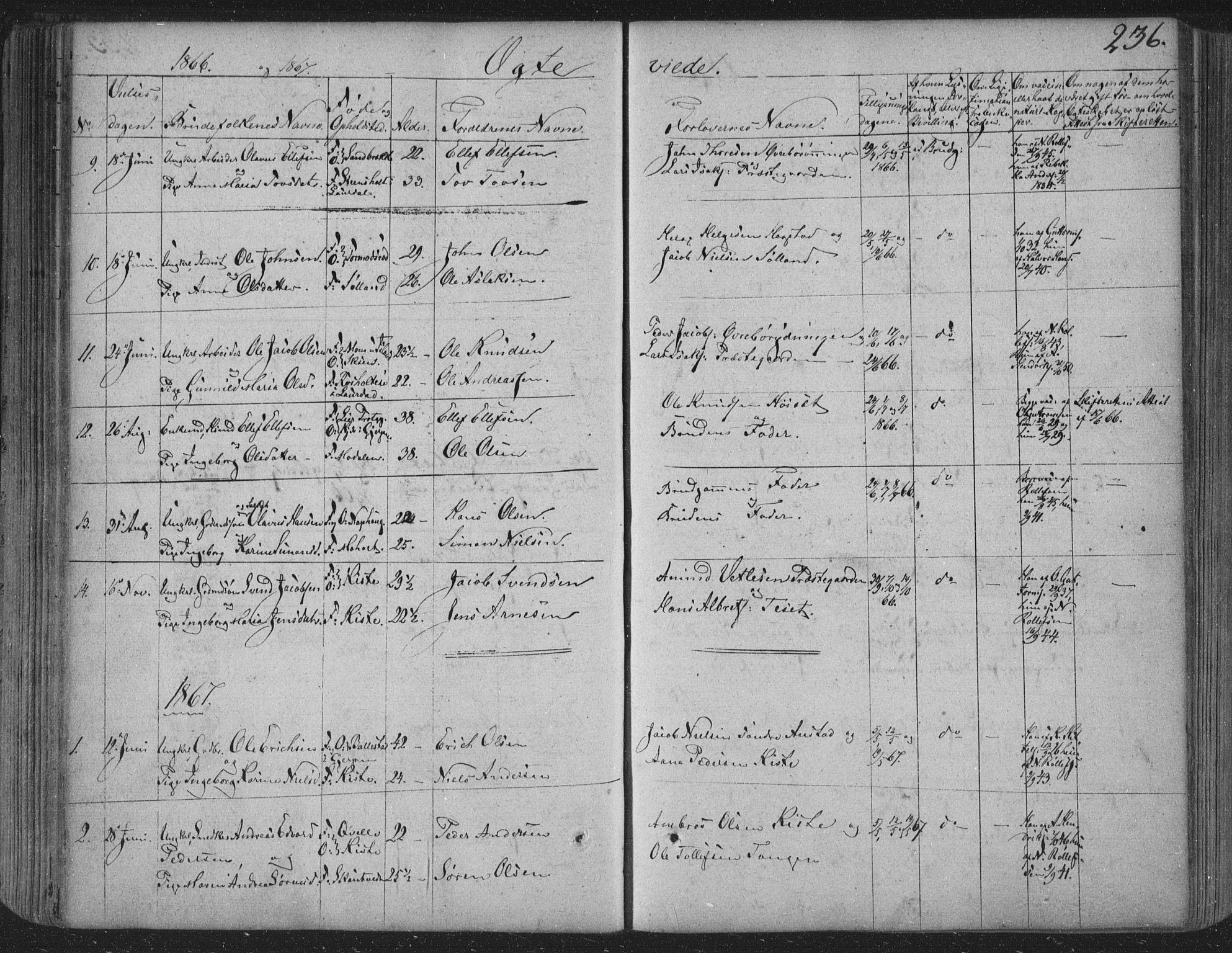 SAKO, Siljan kirkebøker, F/Fa/L0001: Ministerialbok nr. 1, 1831-1870, s. 236