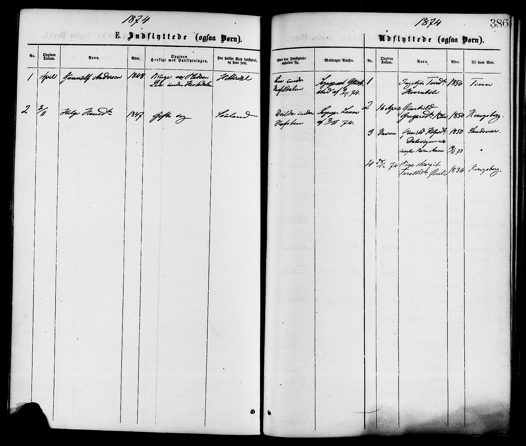 SAKO, Gransherad kirkebøker, F/Fa/L0004: Ministerialbok nr. I 4, 1871-1886, s. 386
