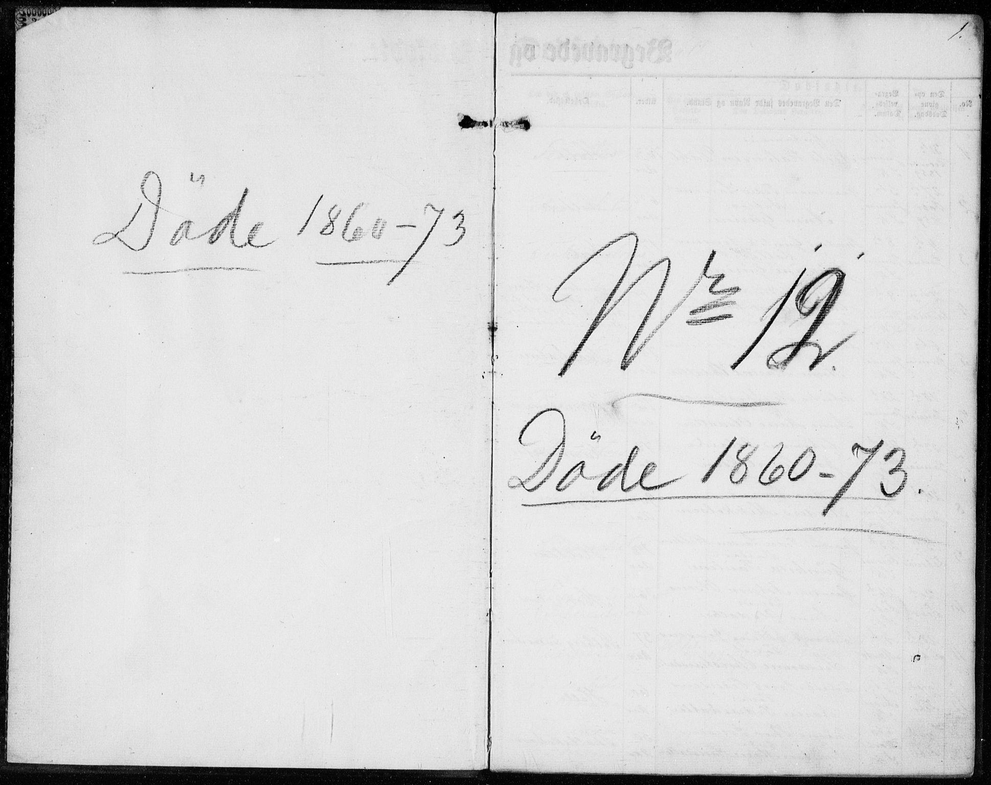 SAKO, Sannidal kirkebøker, F/Fa/L0012: Ministerialbok nr. 12, 1860-1873, s. 1