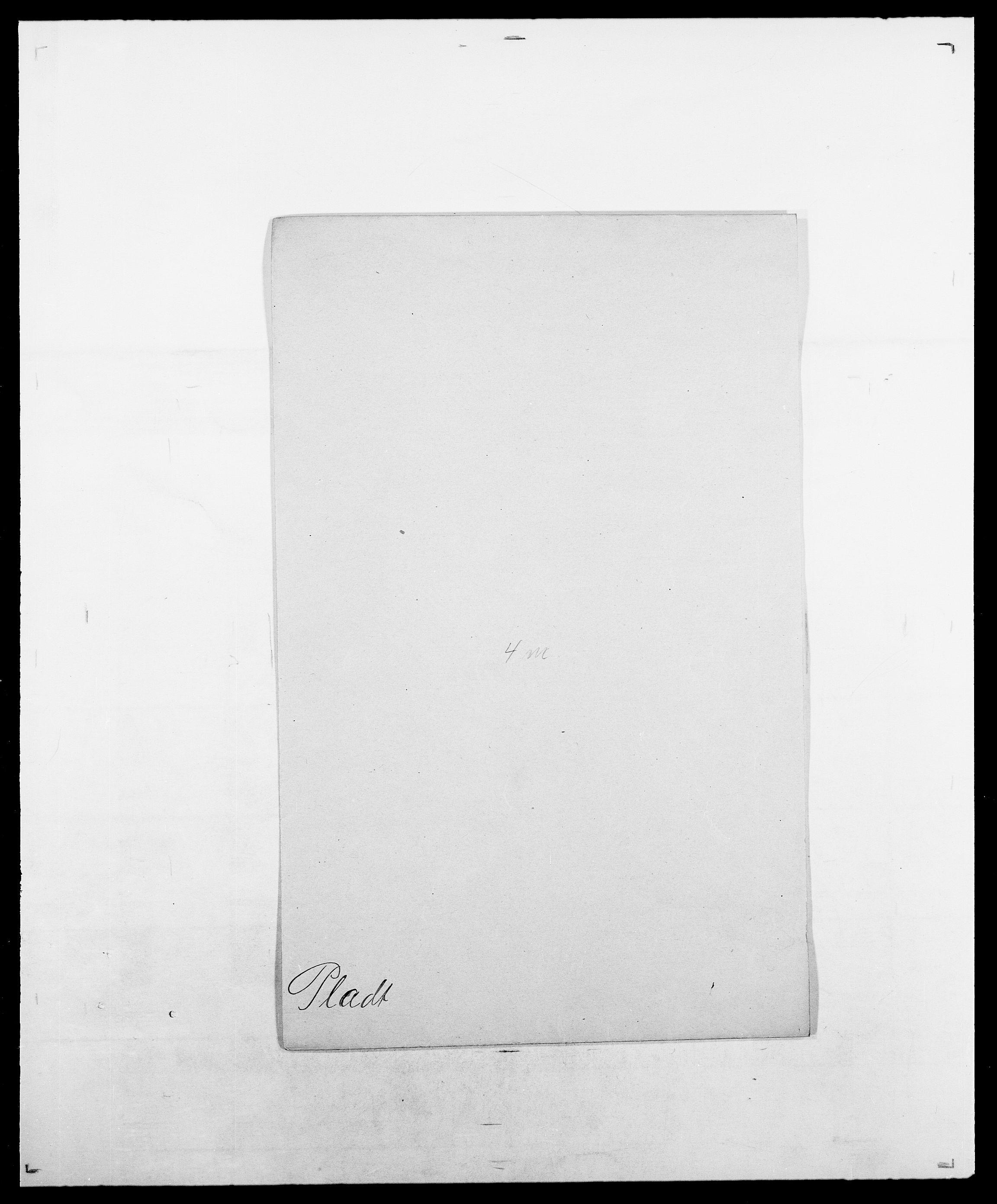 SAO, Delgobe, Charles Antoine - samling, D/Da/L0031: de Place - Raaum, s. 14