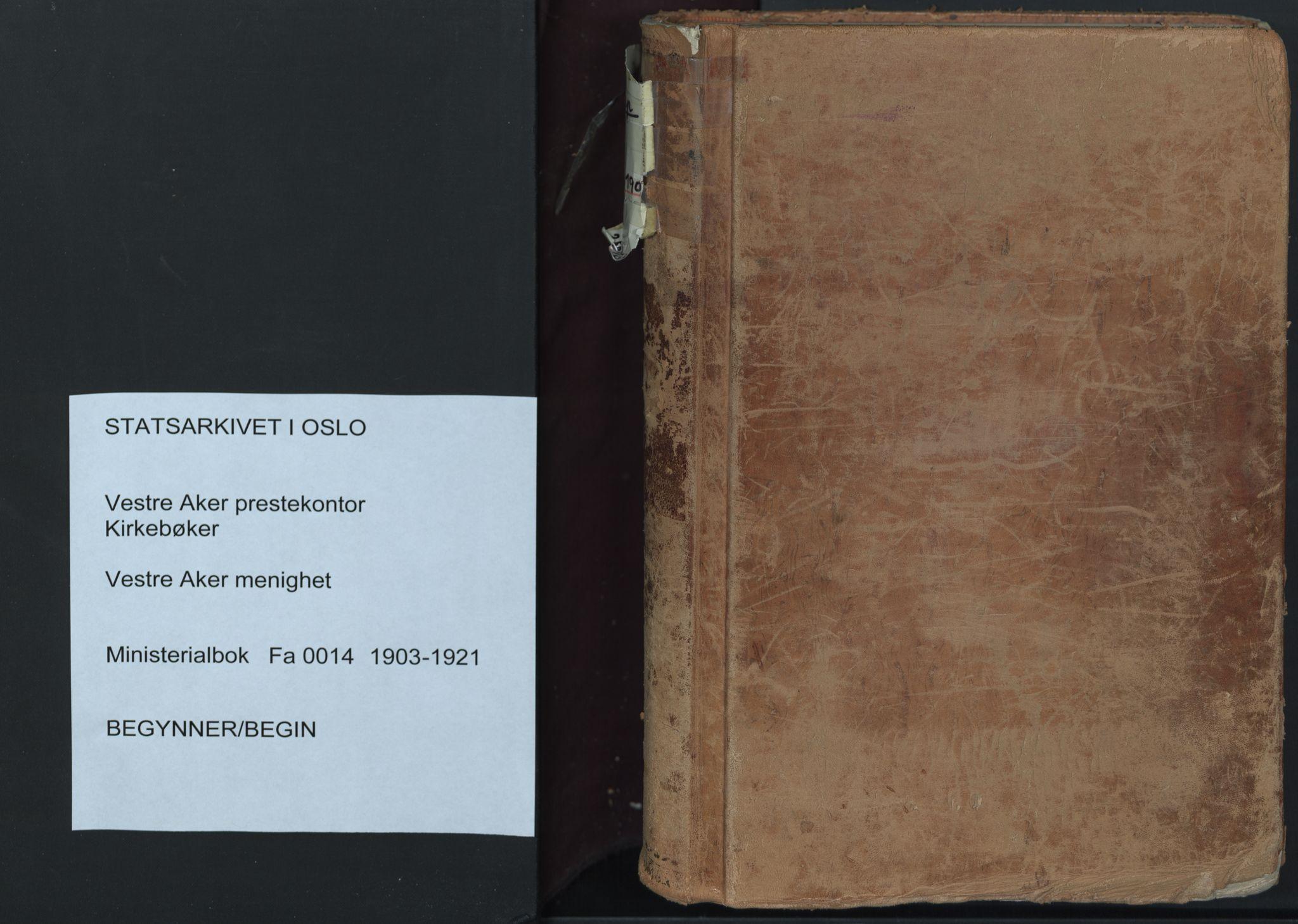 SAO, Vestre Aker prestekontor Kirkebøker, F/Fa/L0014: Ministerialbok nr. 14, 1903-1921
