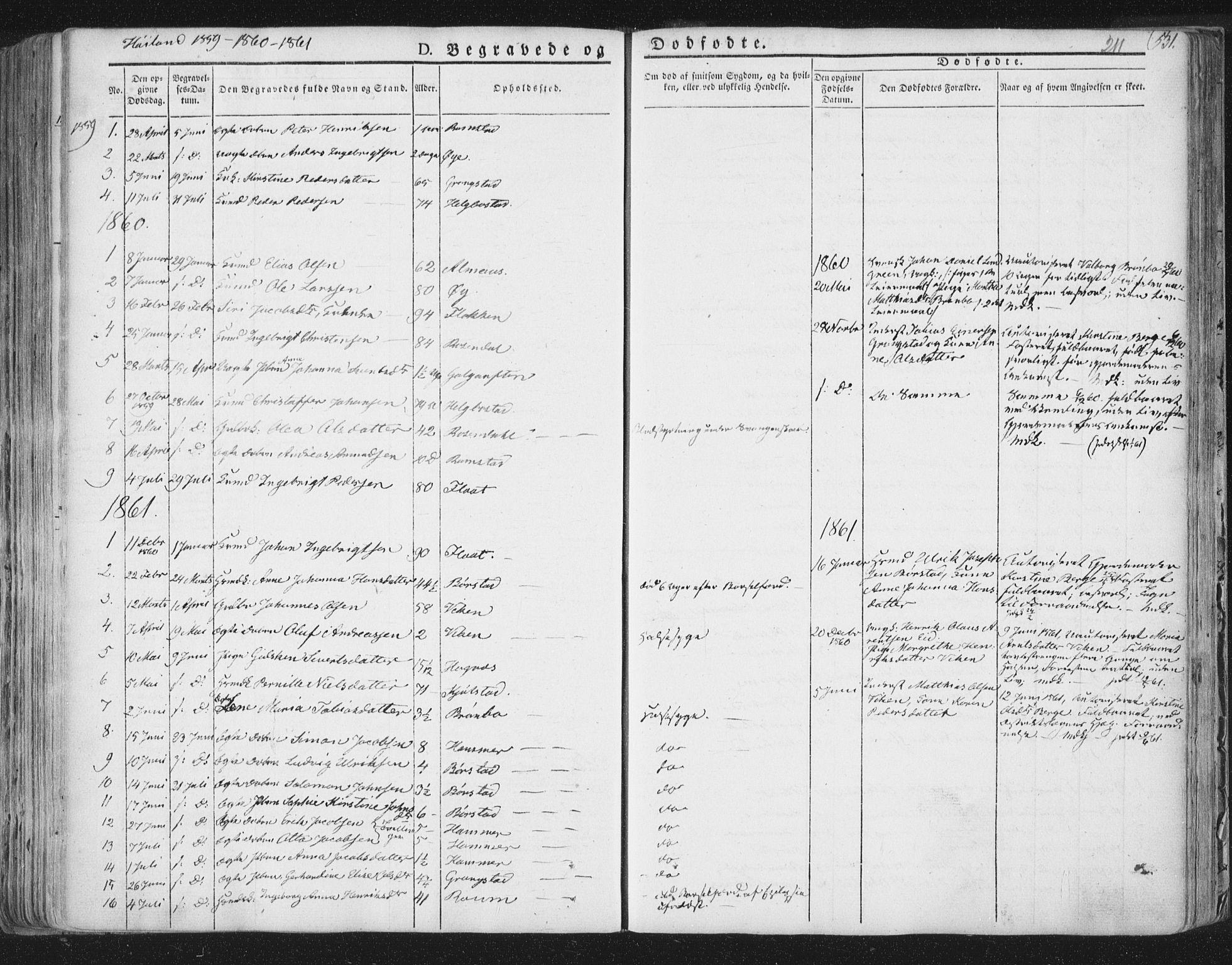 SAT, Ministerialprotokoller, klokkerbøker og fødselsregistre - Nord-Trøndelag, 758/L0513: Ministerialbok nr. 758A02 /2, 1839-1868, s. 211