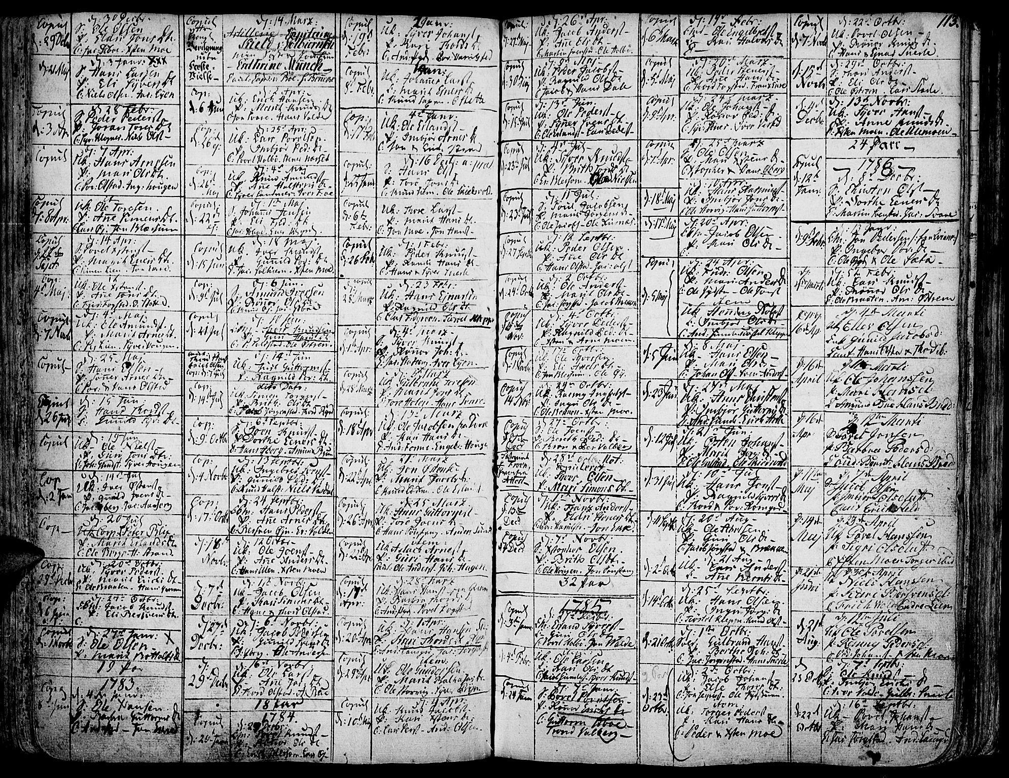 SAH, Vågå prestekontor, Ministerialbok nr. 1, 1739-1810, s. 113