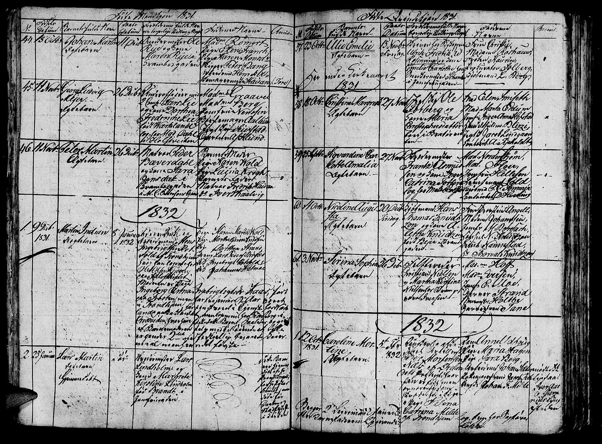 SAT, Ministerialprotokoller, klokkerbøker og fødselsregistre - Sør-Trøndelag, 602/L0135: Klokkerbok nr. 602C03, 1815-1832