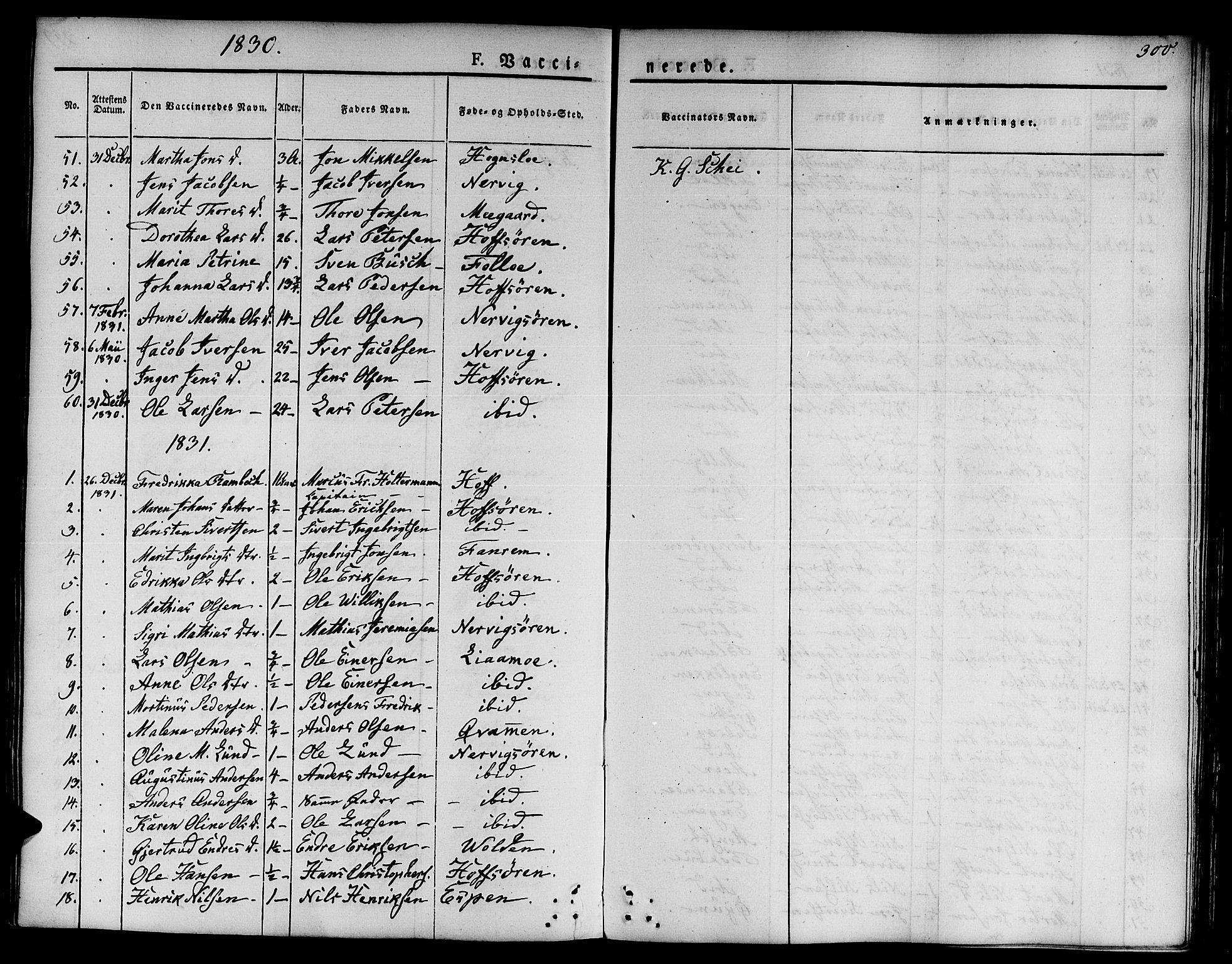 SAT, Ministerialprotokoller, klokkerbøker og fødselsregistre - Sør-Trøndelag, 668/L0804: Ministerialbok nr. 668A04, 1826-1839, s. 300