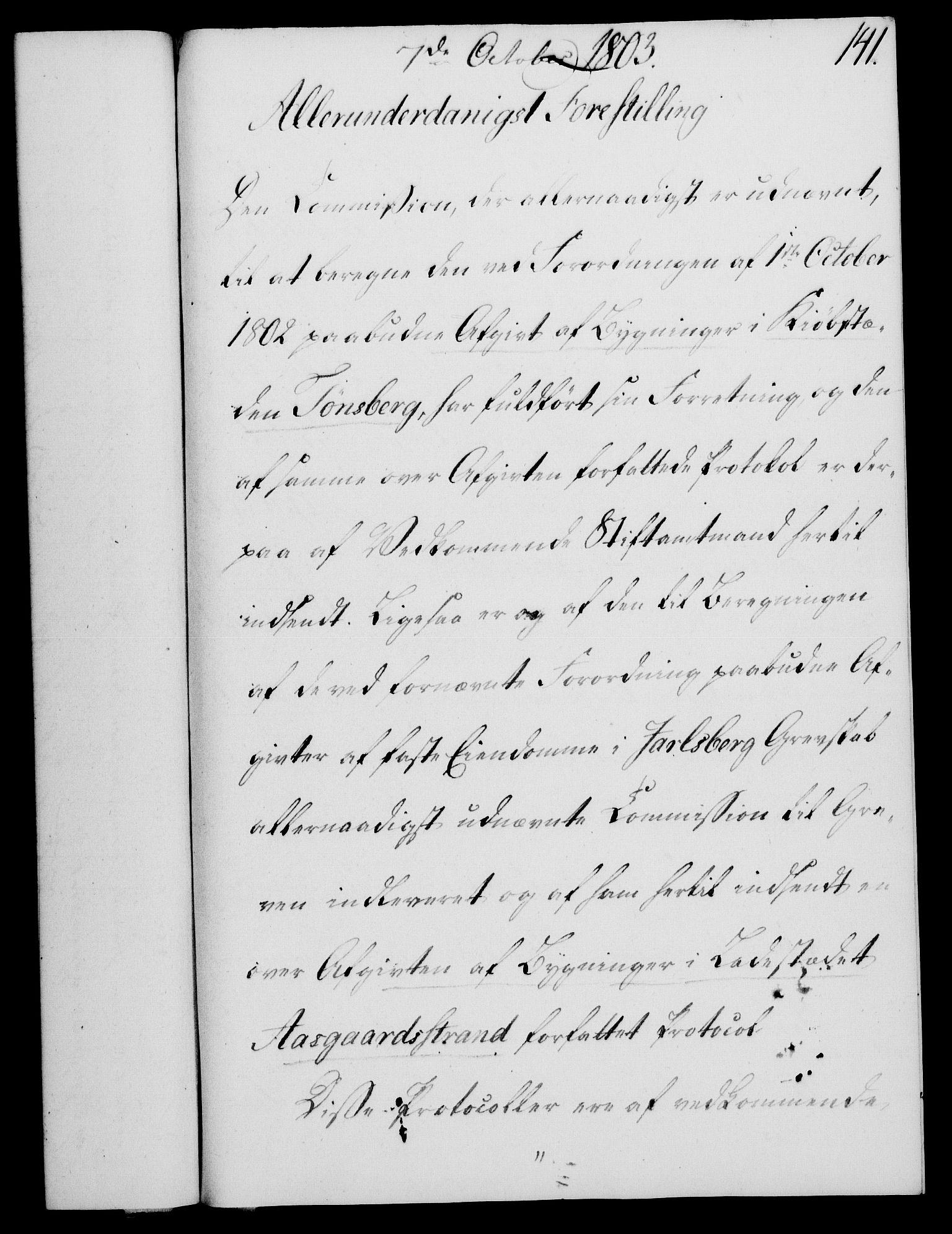 RA, Rentekammeret, Kammerkanselliet, G/Gf/Gfa/L0085: Norsk relasjons- og resolusjonsprotokoll (merket RK 52.85), 1803, s. 823