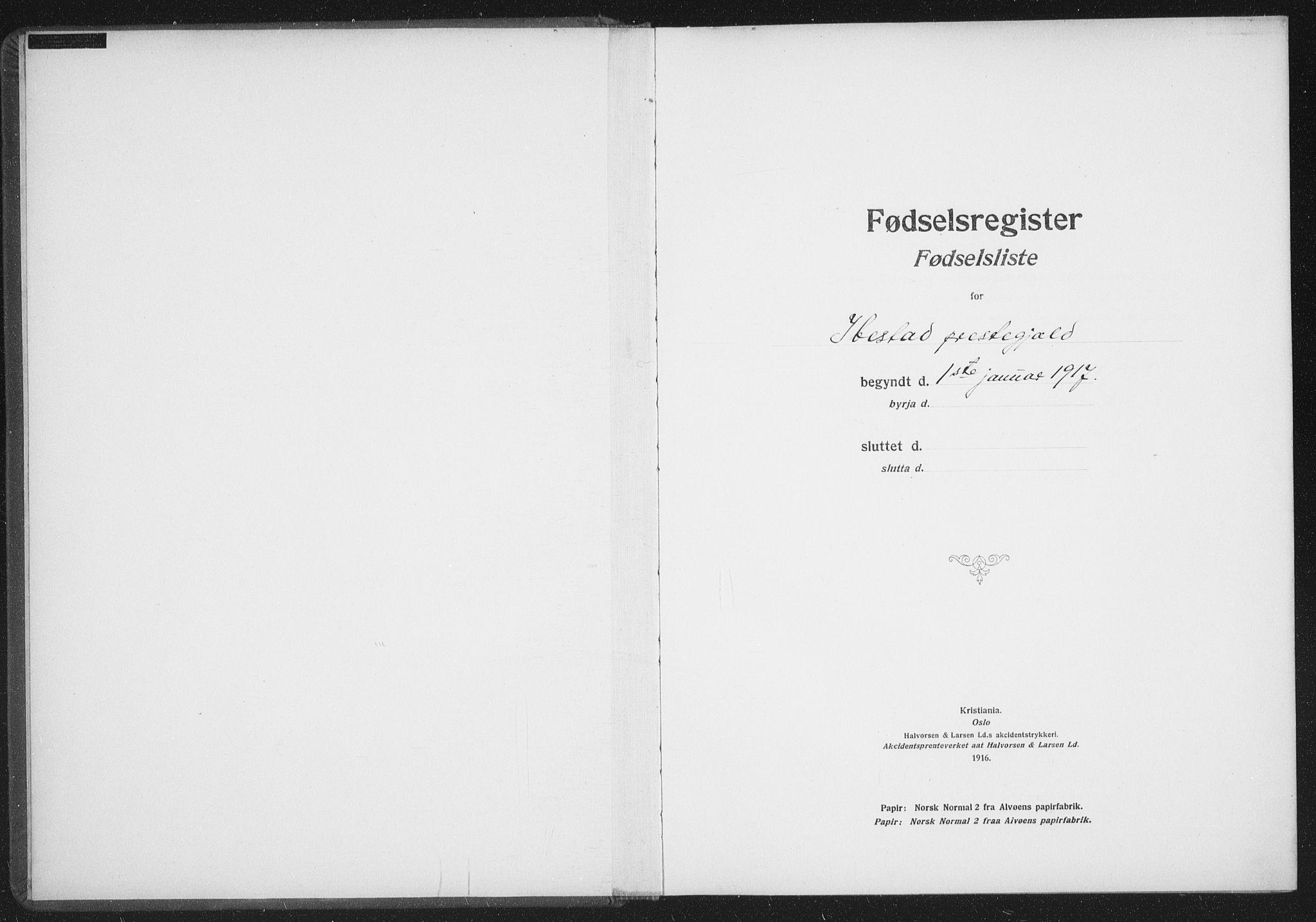 SATØ, Ibestad sokneprestembete, Fødselsregister nr. 61, 1917-1929