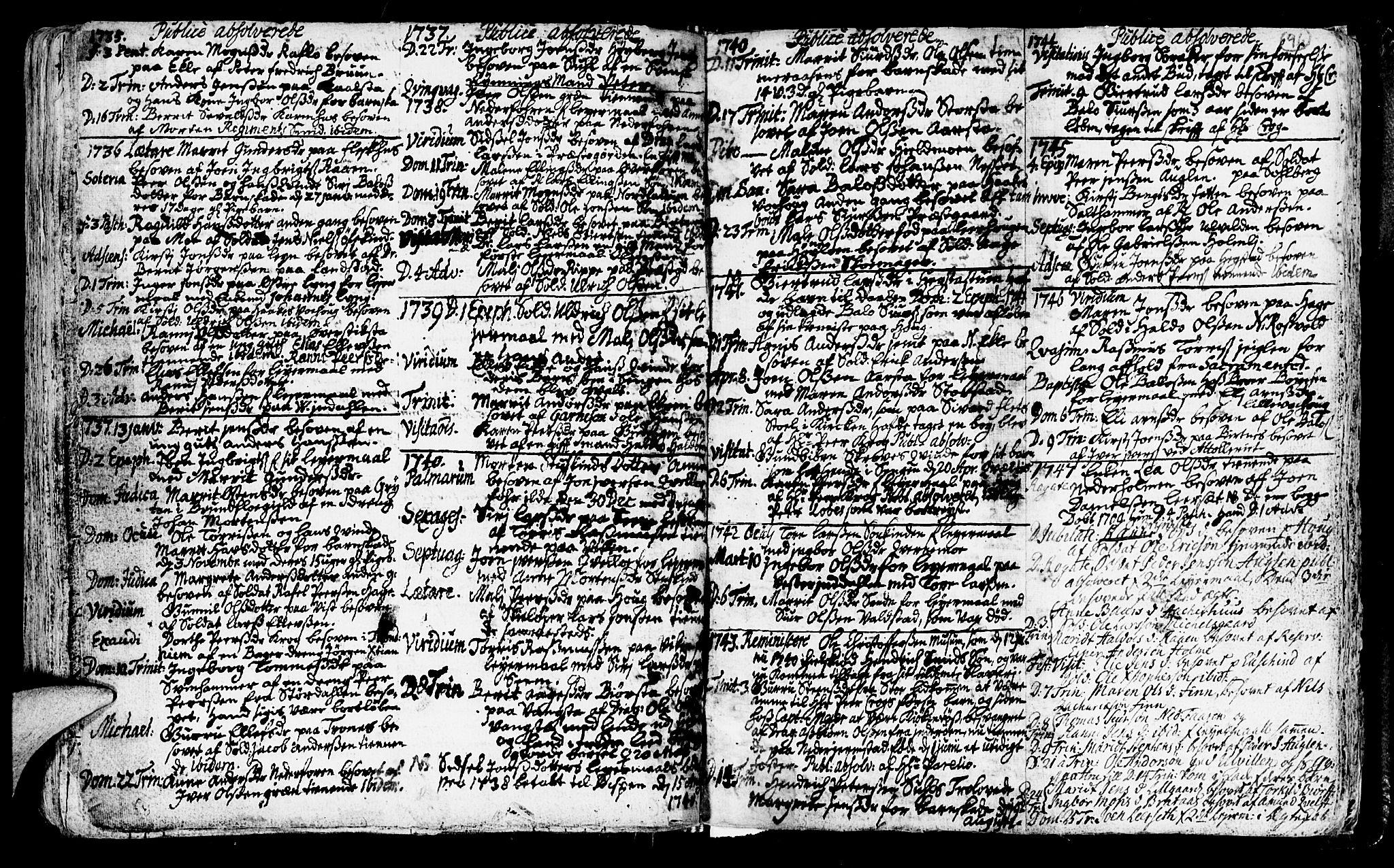 SAT, Ministerialprotokoller, klokkerbøker og fødselsregistre - Nord-Trøndelag, 723/L0230: Ministerialbok nr. 723A01, 1705-1747, s. 96