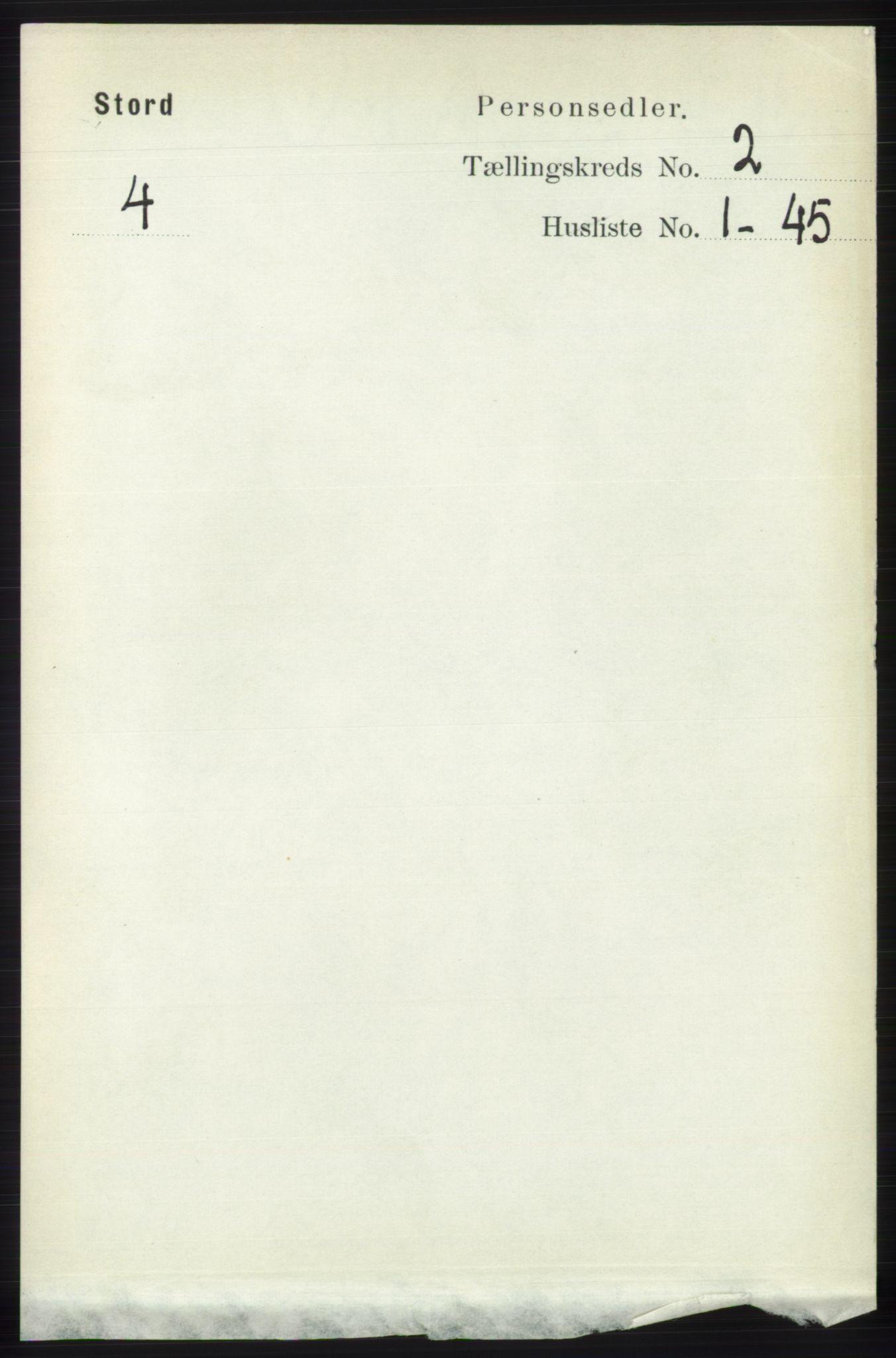 RA, Folketelling 1891 for 1221 Stord herred, 1891, s. 252