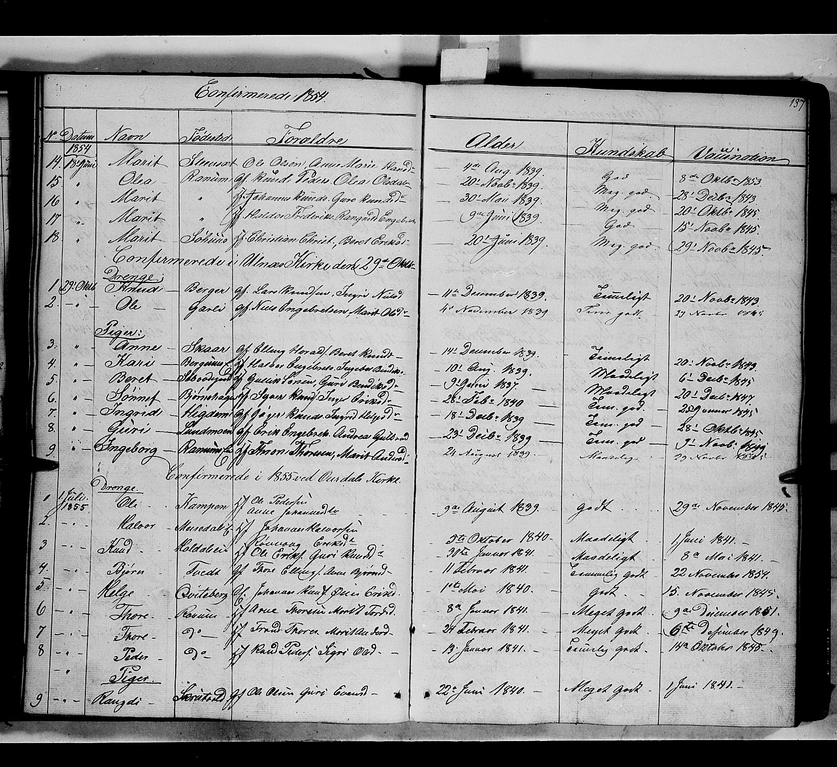 SAH, Nord-Aurdal prestekontor, Ministerialbok nr. 7, 1842-1863, s. 137