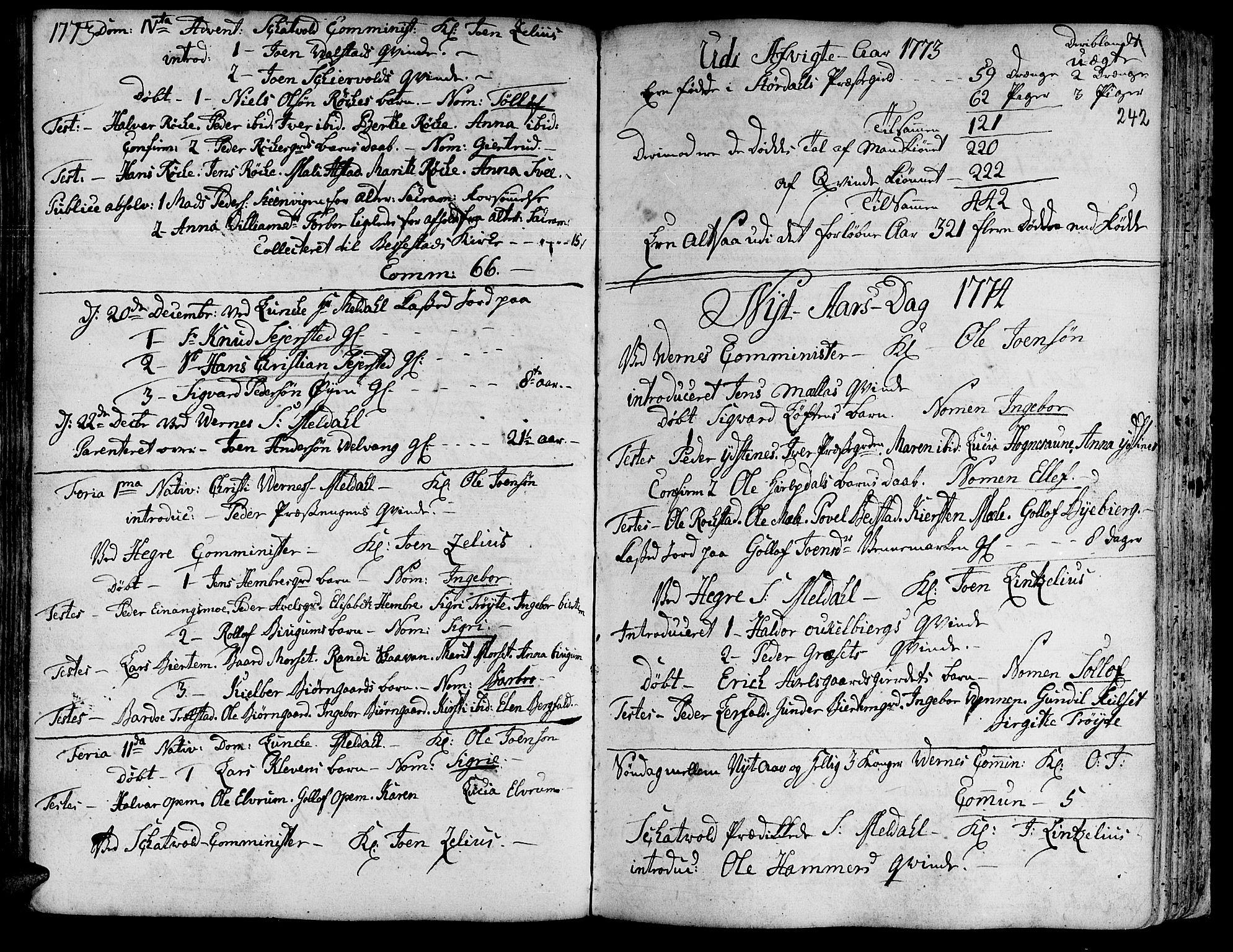 SAT, Ministerialprotokoller, klokkerbøker og fødselsregistre - Nord-Trøndelag, 709/L0057: Ministerialbok nr. 709A05, 1755-1780, s. 242