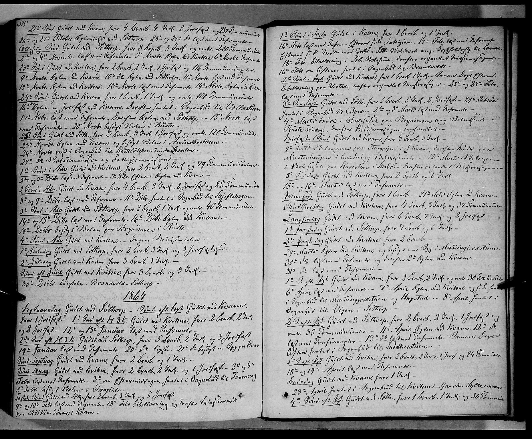 SAH, Nord-Fron prestekontor, Ministerialbok nr. 1, 1851-1864, s. 515