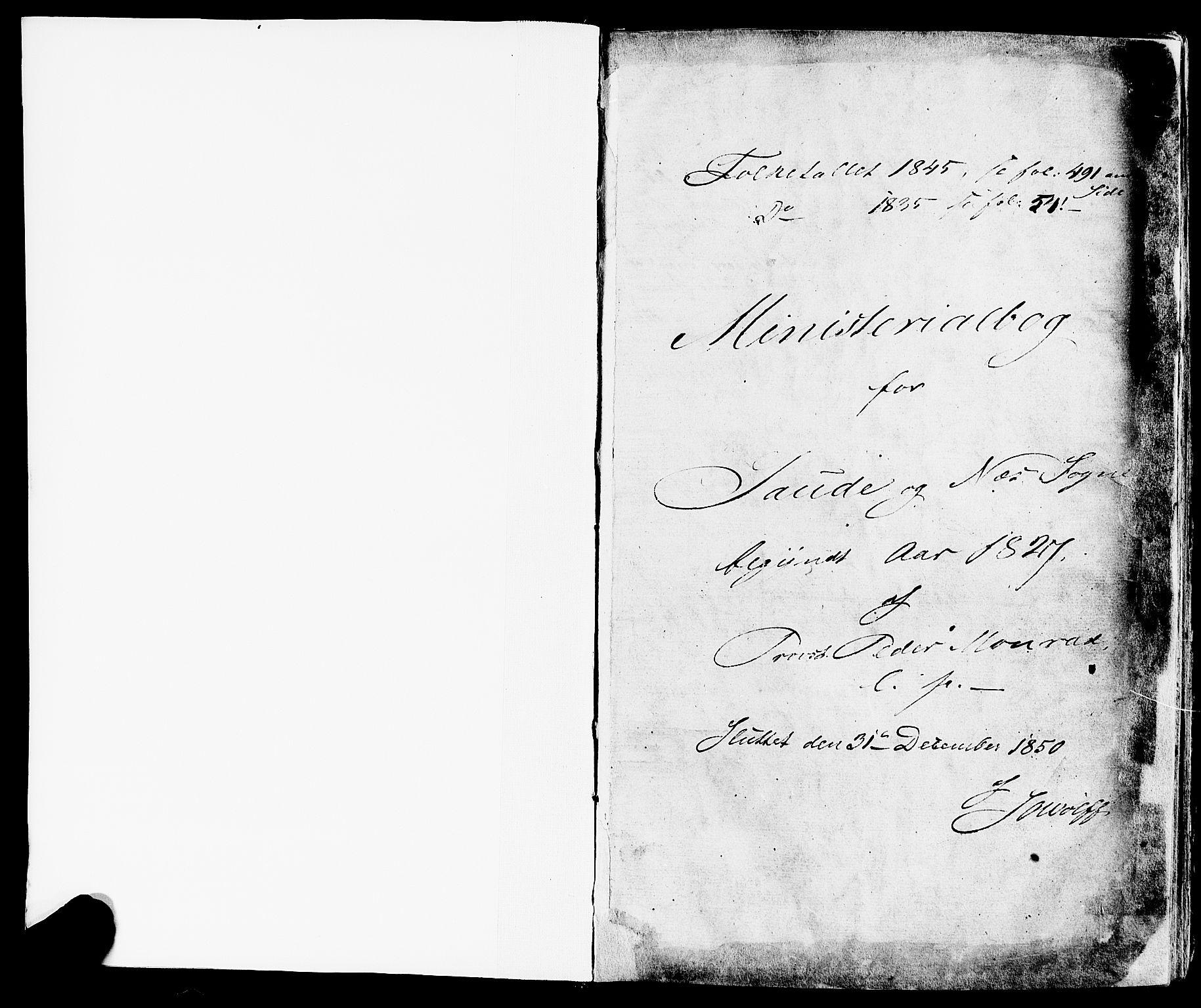 SAKO, Sauherad kirkebøker, F/Fa/L0006: Ministerialbok nr. I 6, 1827-1850, s. 1
