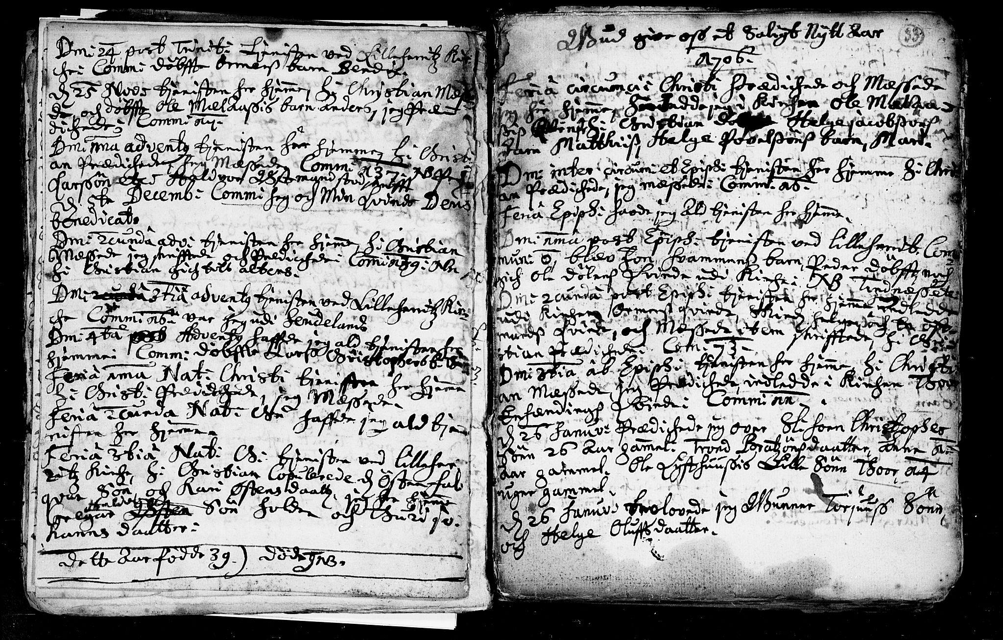 SAKO, Heddal kirkebøker, F/Fa/L0002: Ministerialbok nr. I 2, 1699-1722, s. 33