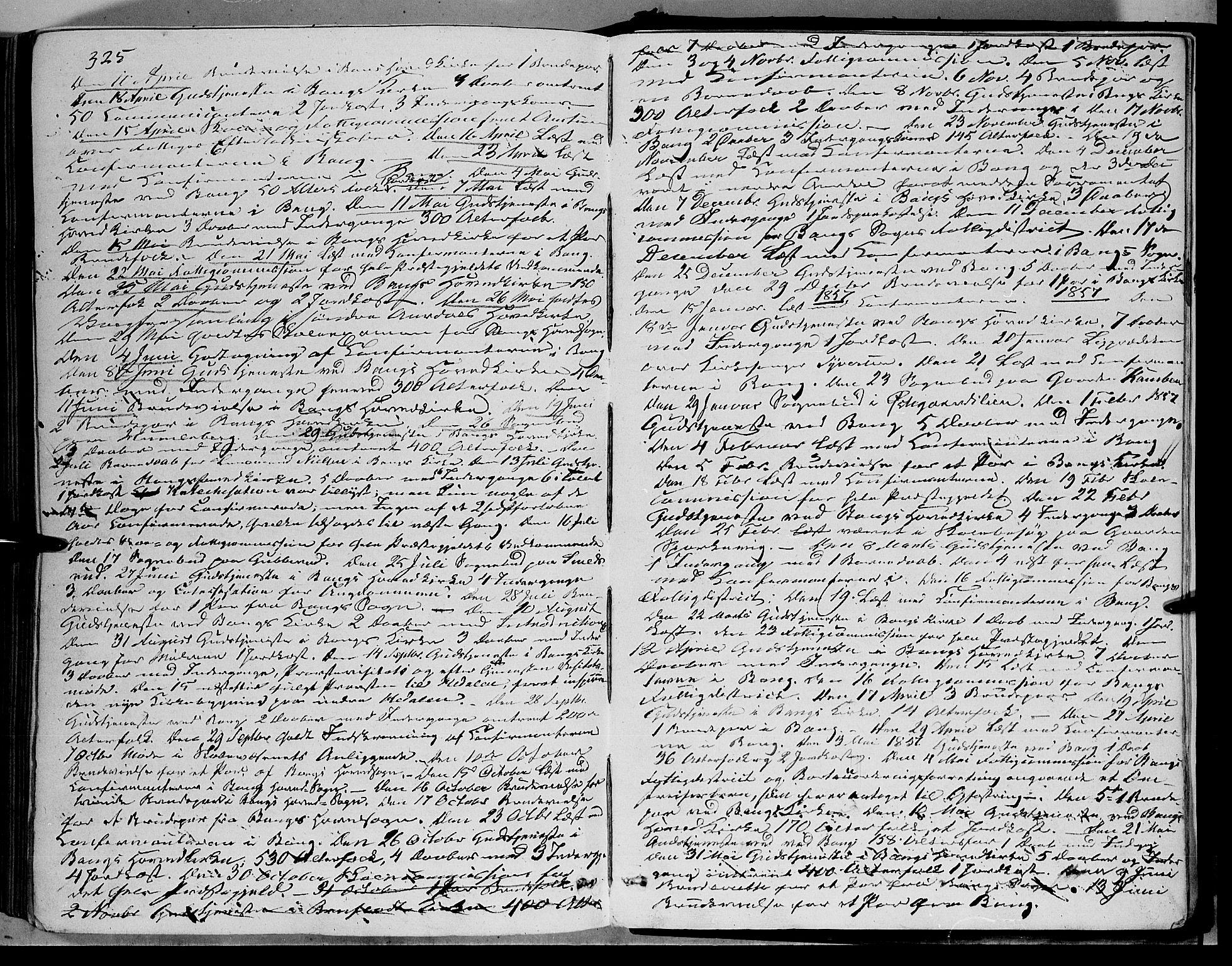 SAH, Sør-Aurdal prestekontor, Ministerialbok nr. 5, 1849-1876, s. 325