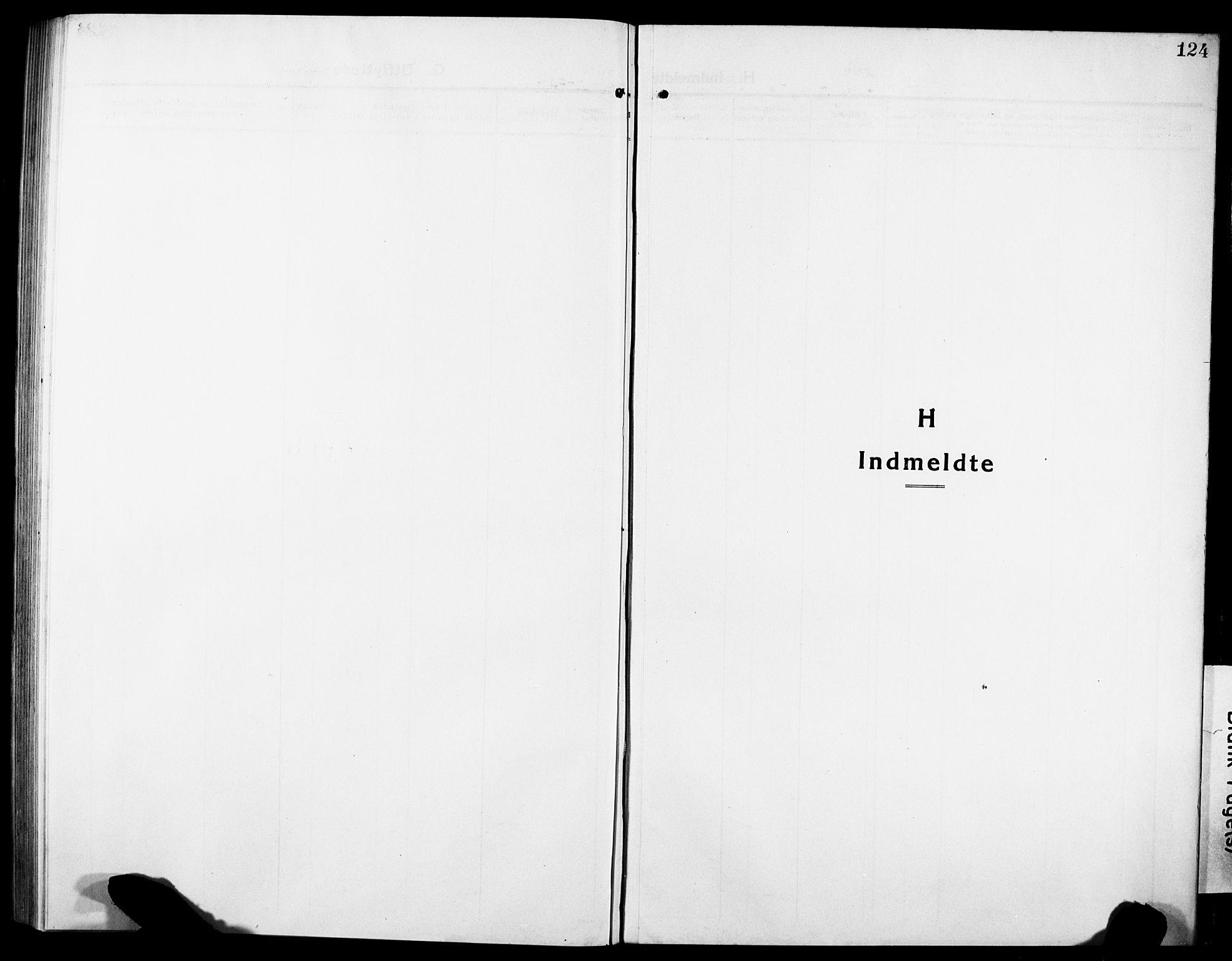 SAT, Ministerialprotokoller, klokkerbøker og fødselsregistre - Sør-Trøndelag, 634/L0543: Klokkerbok nr. 634C05, 1917-1928, s. 124