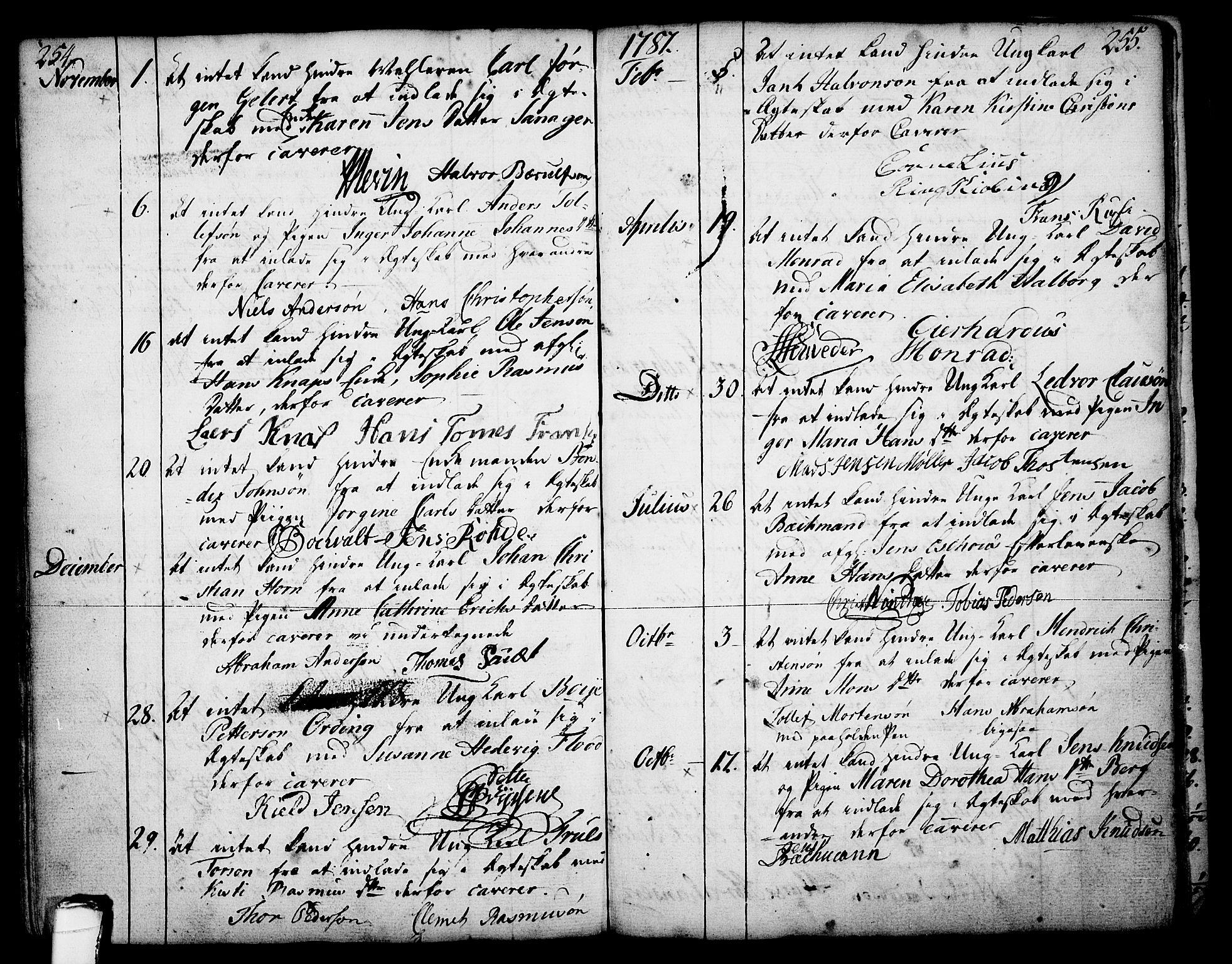 SAKO, Skien kirkebøker, F/Fa/L0003: Ministerialbok nr. 3, 1755-1791, s. 254-255