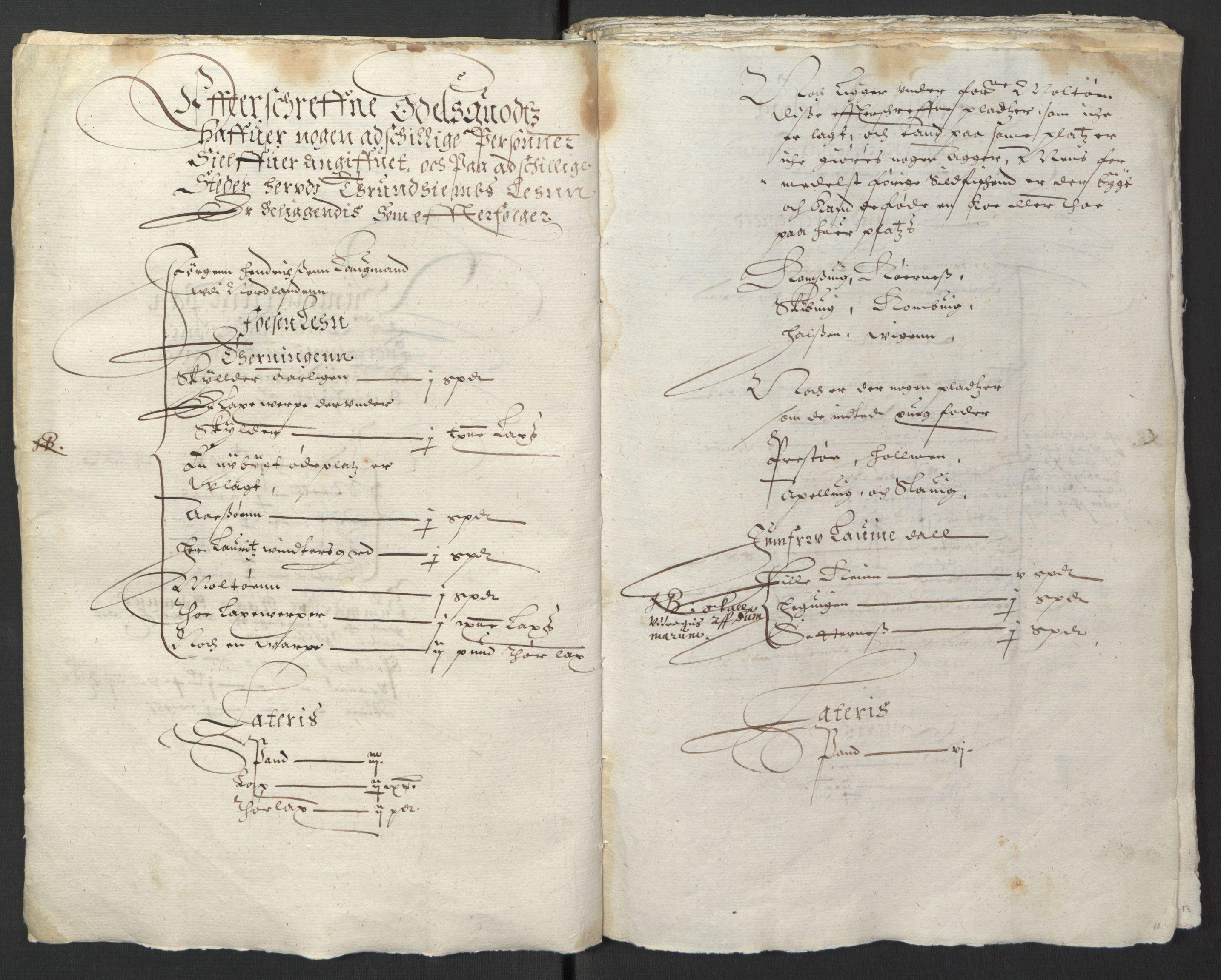 RA, Stattholderembetet 1572-1771, Ek/L0013: Jordebøker til utlikning av rosstjeneste 1624-1626:, 1624-1625, s. 14