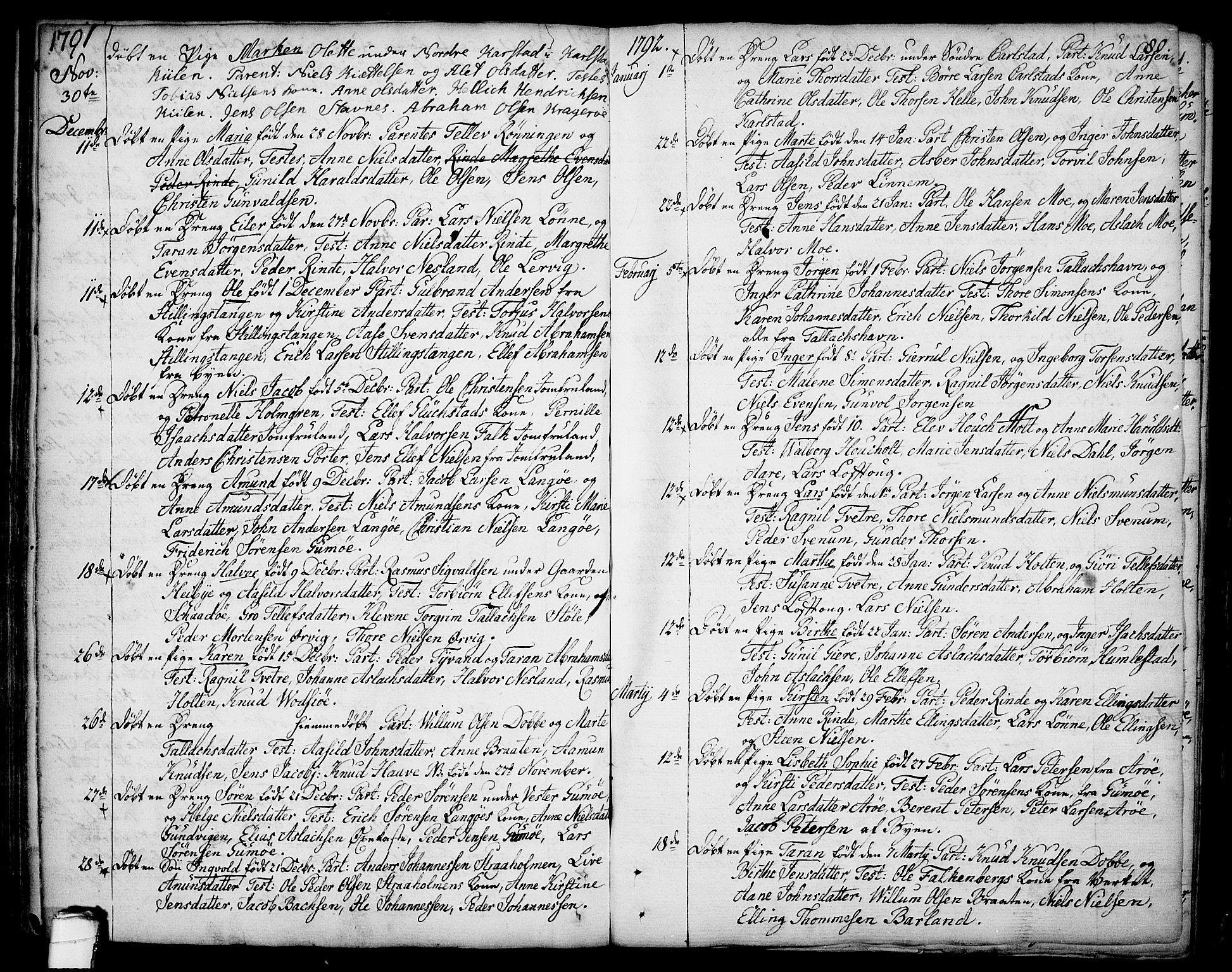 SAKO, Sannidal kirkebøker, F/Fa/L0002: Ministerialbok nr. 2, 1767-1802, s. 80