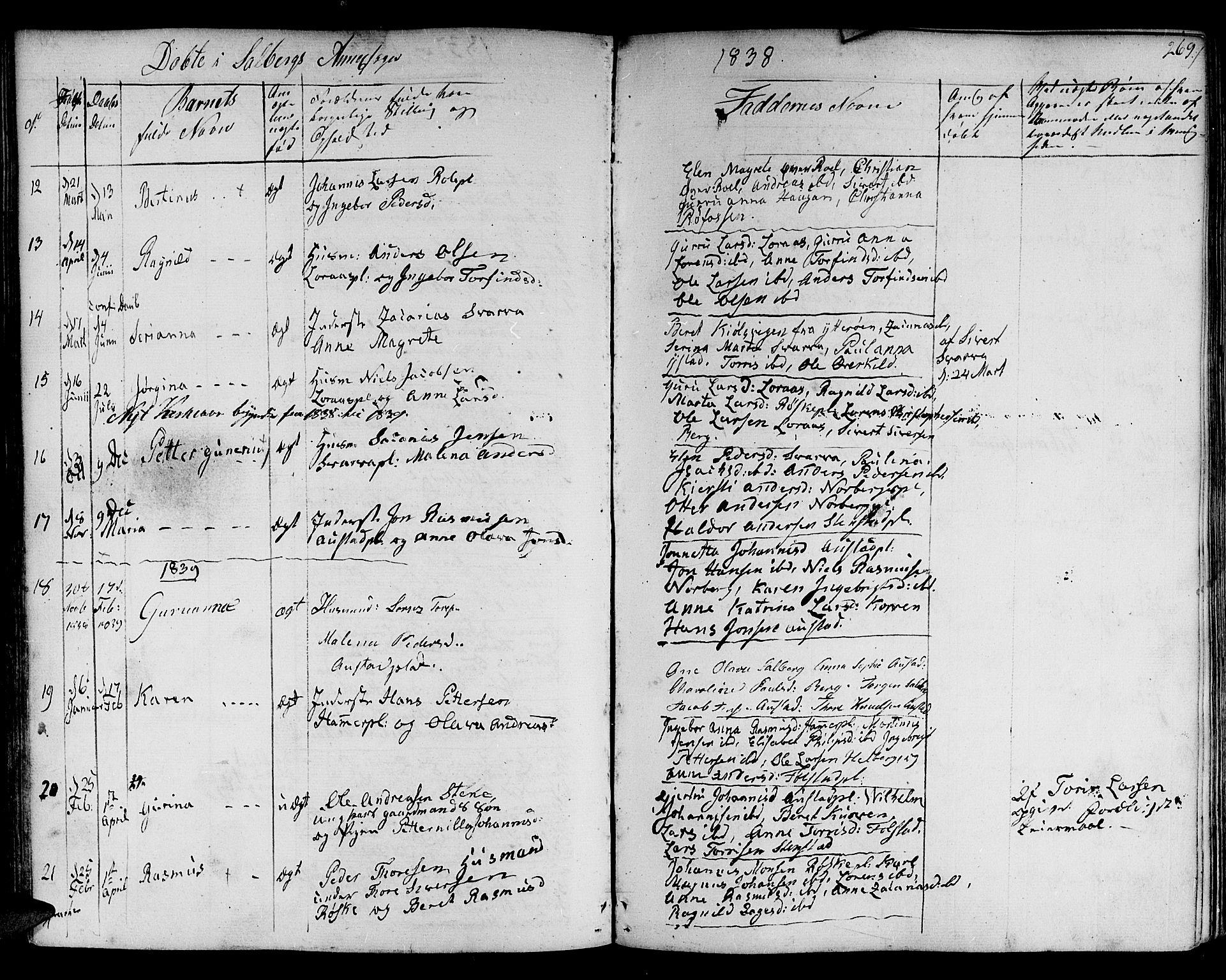 SAT, Ministerialprotokoller, klokkerbøker og fødselsregistre - Nord-Trøndelag, 730/L0277: Ministerialbok nr. 730A06 /2, 1831-1839, s. 269