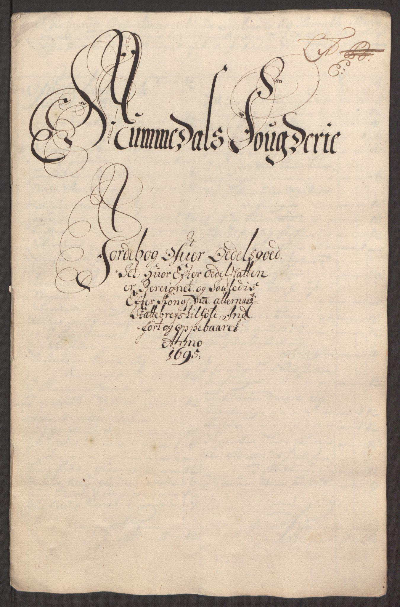 RA, Rentekammeret inntil 1814, Reviderte regnskaper, Fogderegnskap, R64/L4424: Fogderegnskap Namdal, 1692-1695, s. 469