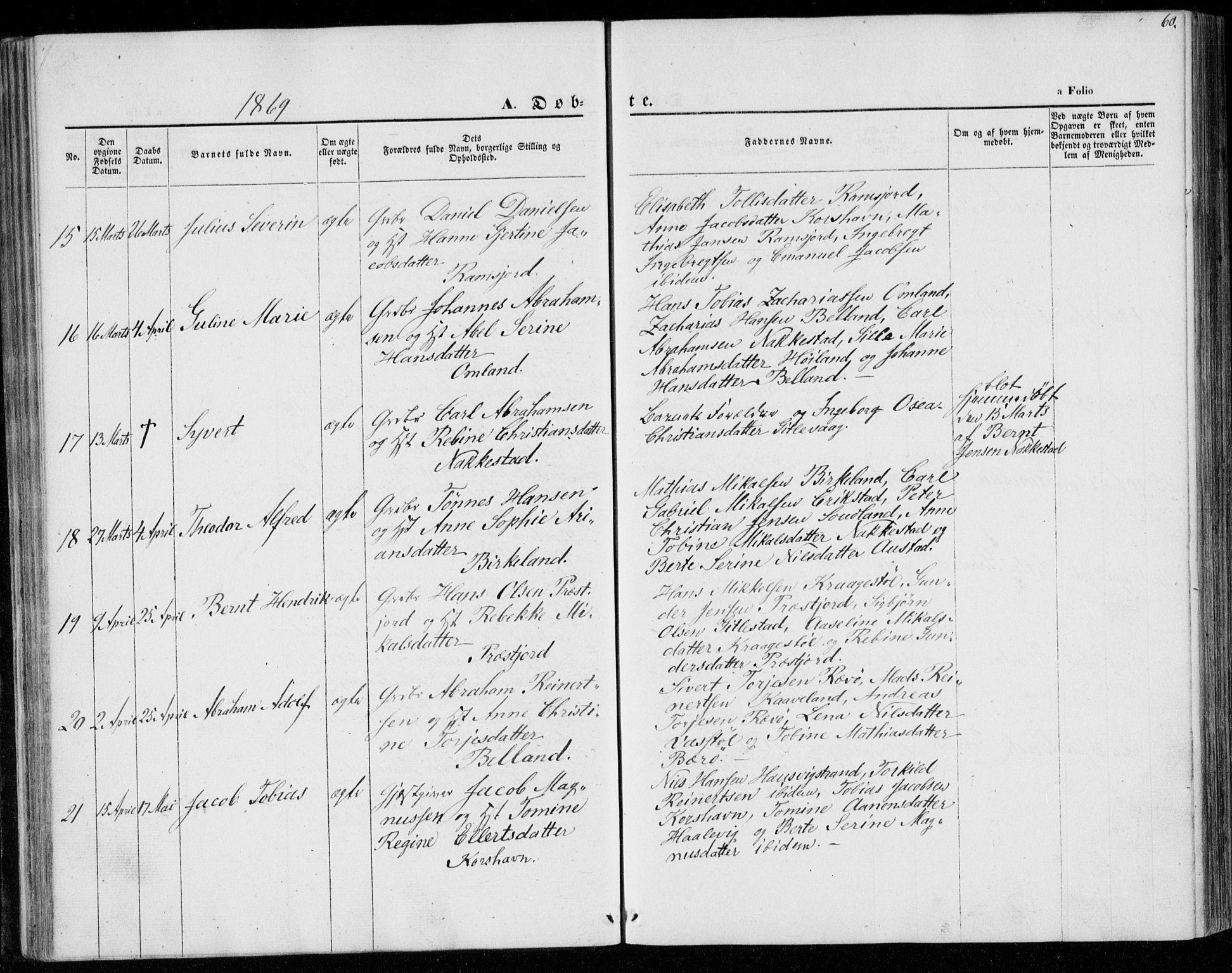 SAK, Lyngdal sokneprestkontor, F/Fa/Faa/L0002: Ministerialbok nr. A 2, 1858-1870, s. 60
