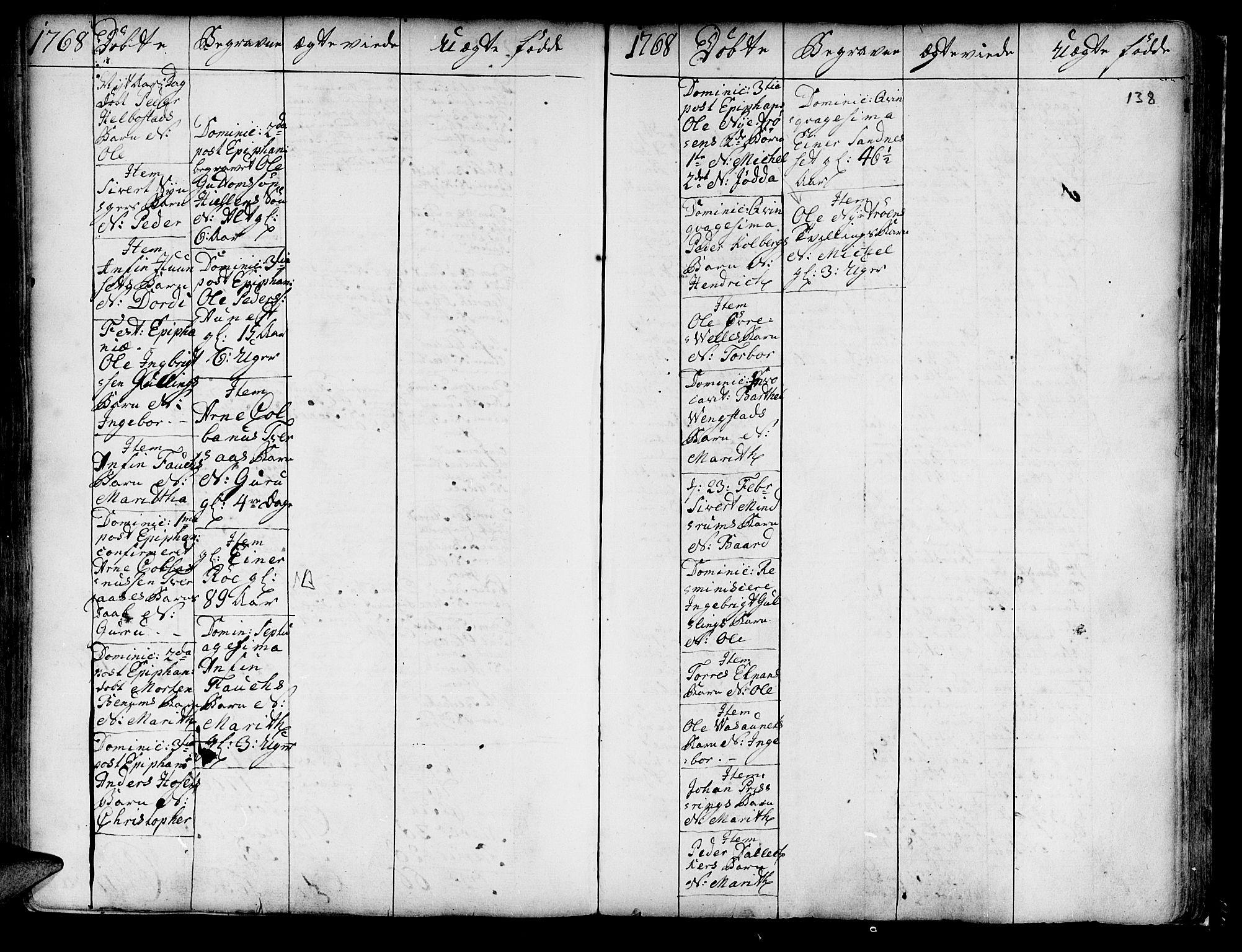 SAT, Ministerialprotokoller, klokkerbøker og fødselsregistre - Nord-Trøndelag, 741/L0385: Ministerialbok nr. 741A01, 1722-1815, s. 138