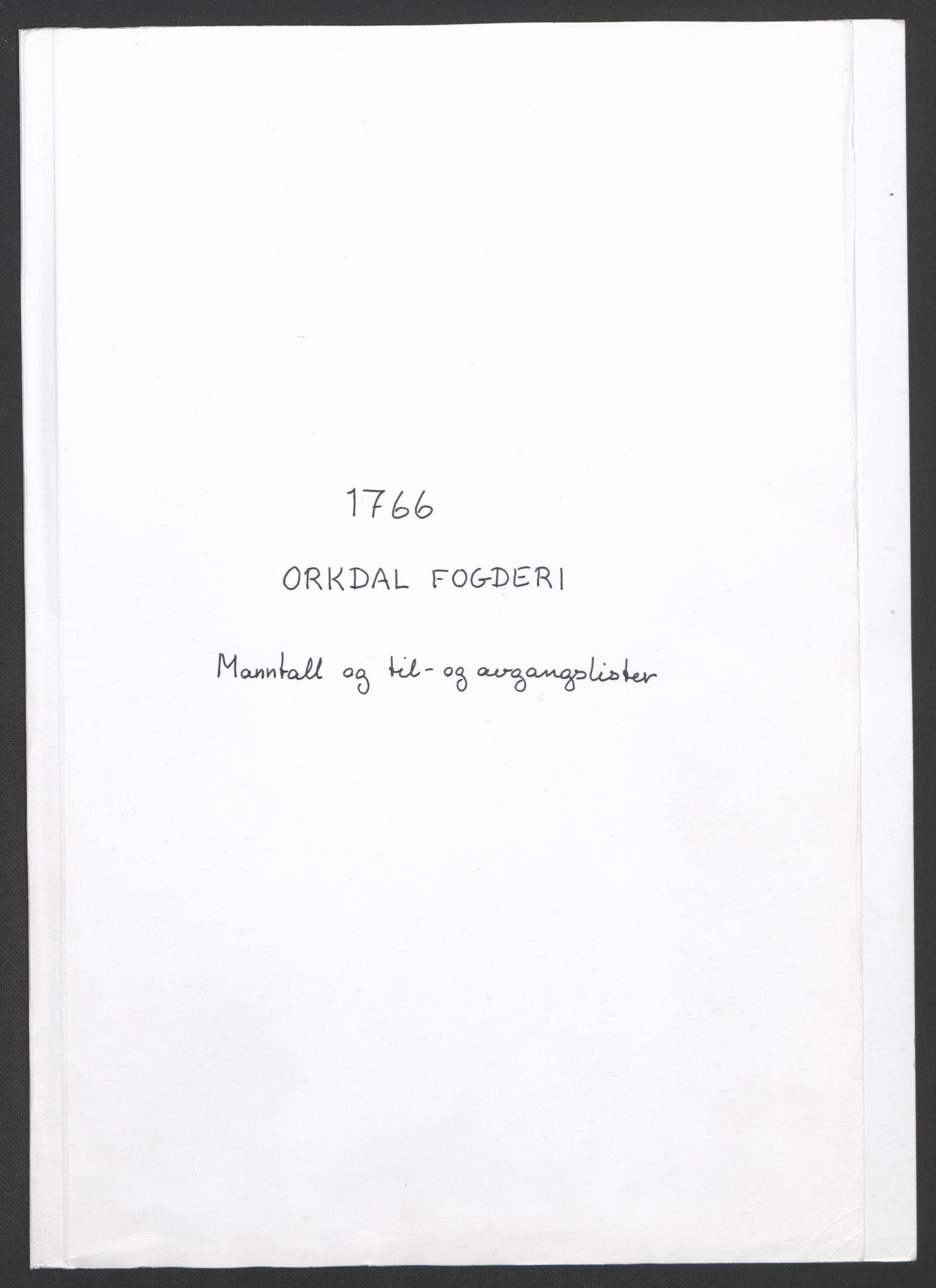RA, Rentekammeret inntil 1814, Realistisk ordnet avdeling, Ol/L0021: [Gg 10]: Ekstraskatten, 23.09.1762. Orkdal og Gauldal, 1762-1767, s. 365