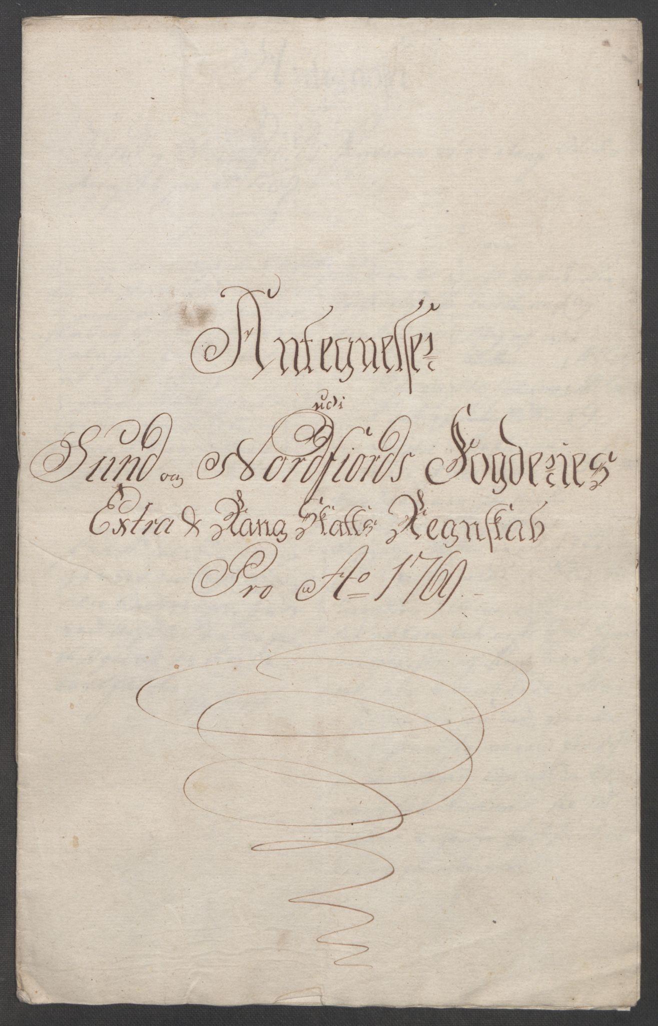 RA, Rentekammeret inntil 1814, Reviderte regnskaper, Fogderegnskap, R53/L3550: Ekstraskatten Sunn- og Nordfjord, 1762-1771, s. 276