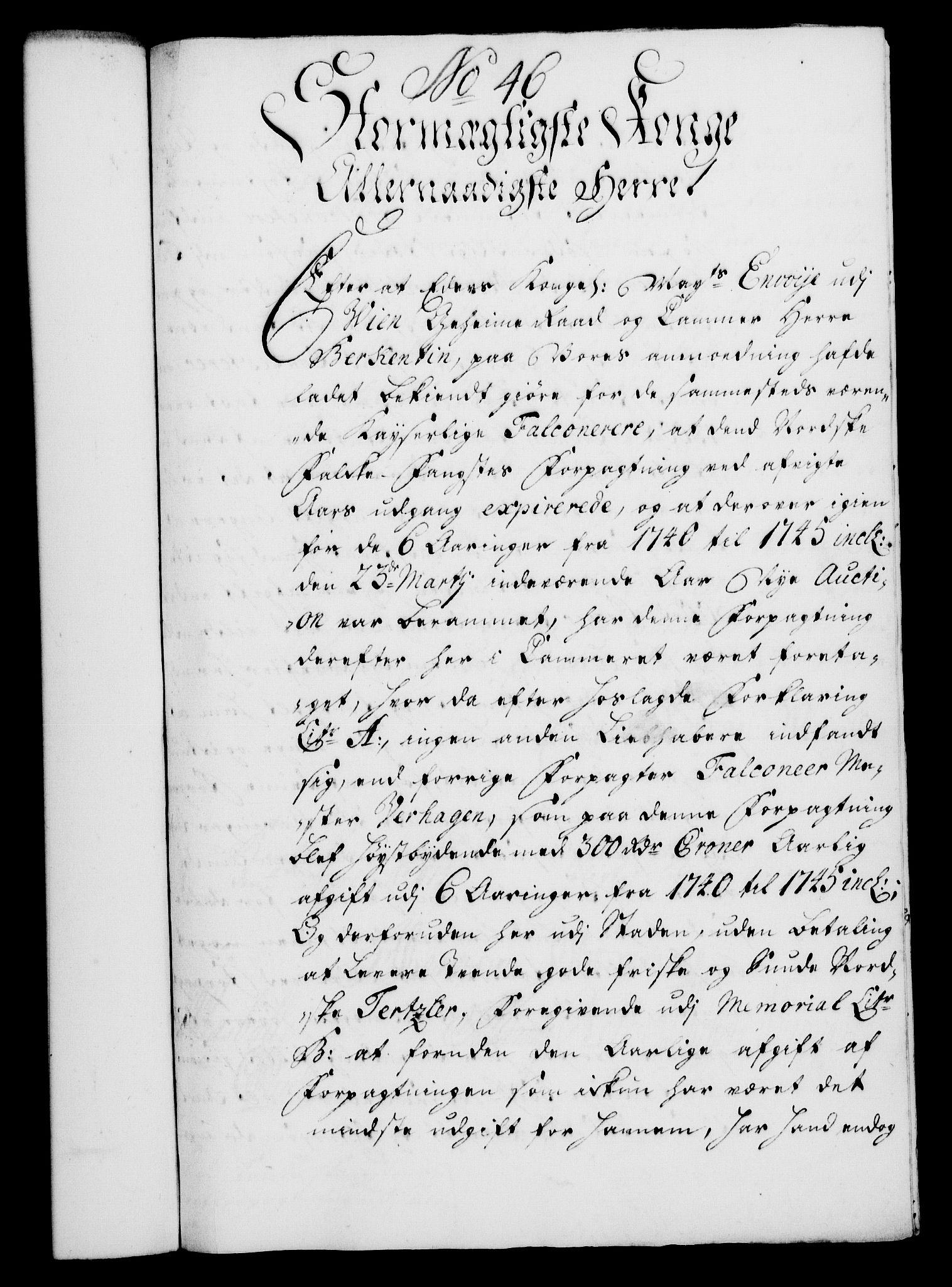 RA, Rentekammeret, Kammerkanselliet, G/Gf/Gfa/L0023: Norsk relasjons- og resolusjonsprotokoll (merket RK 52.23), 1740, s. 306