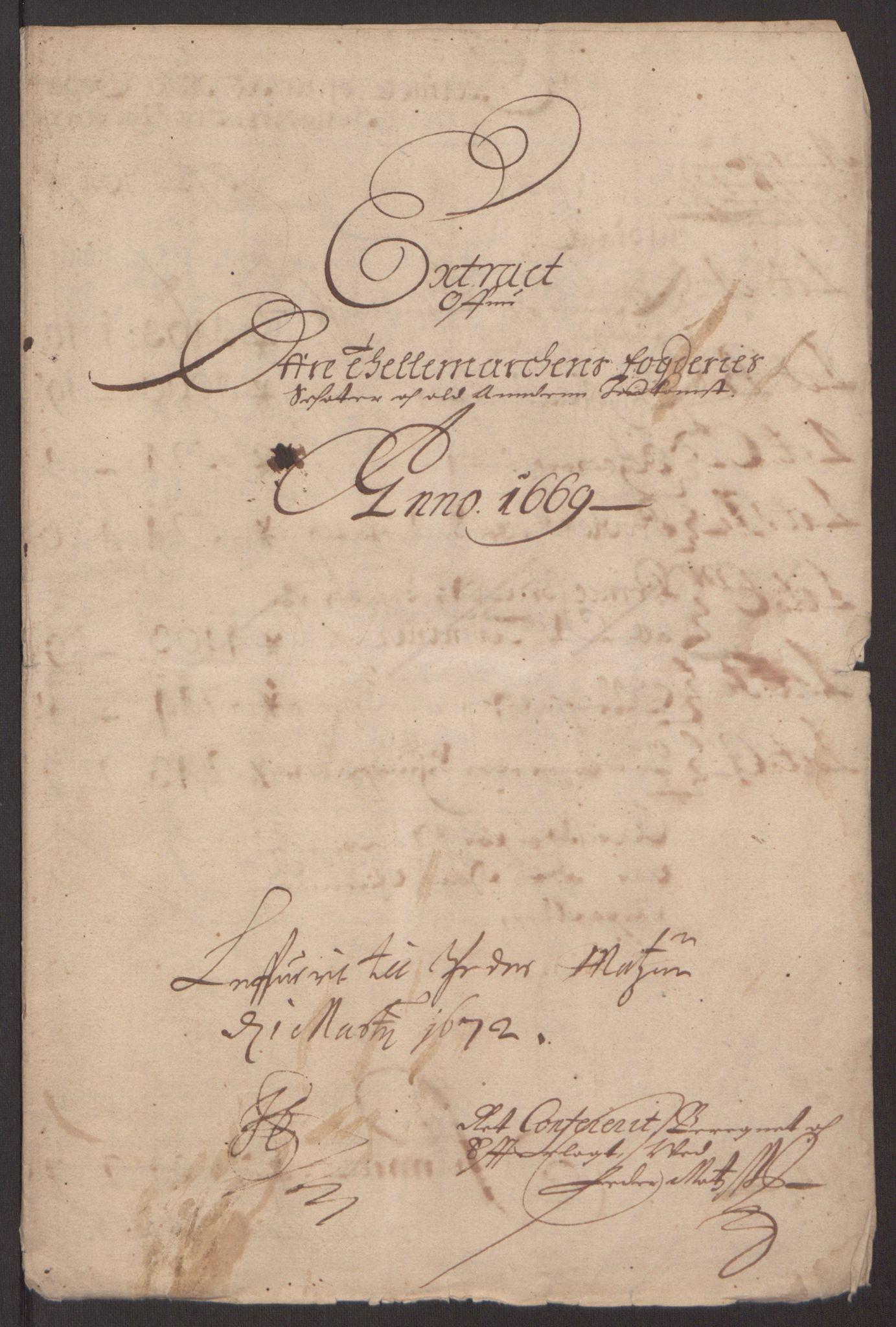 RA, Rentekammeret inntil 1814, Reviderte regnskaper, Fogderegnskap, R35/L2059: Fogderegnskap Øvre og Nedre Telemark, 1668-1670, s. 12