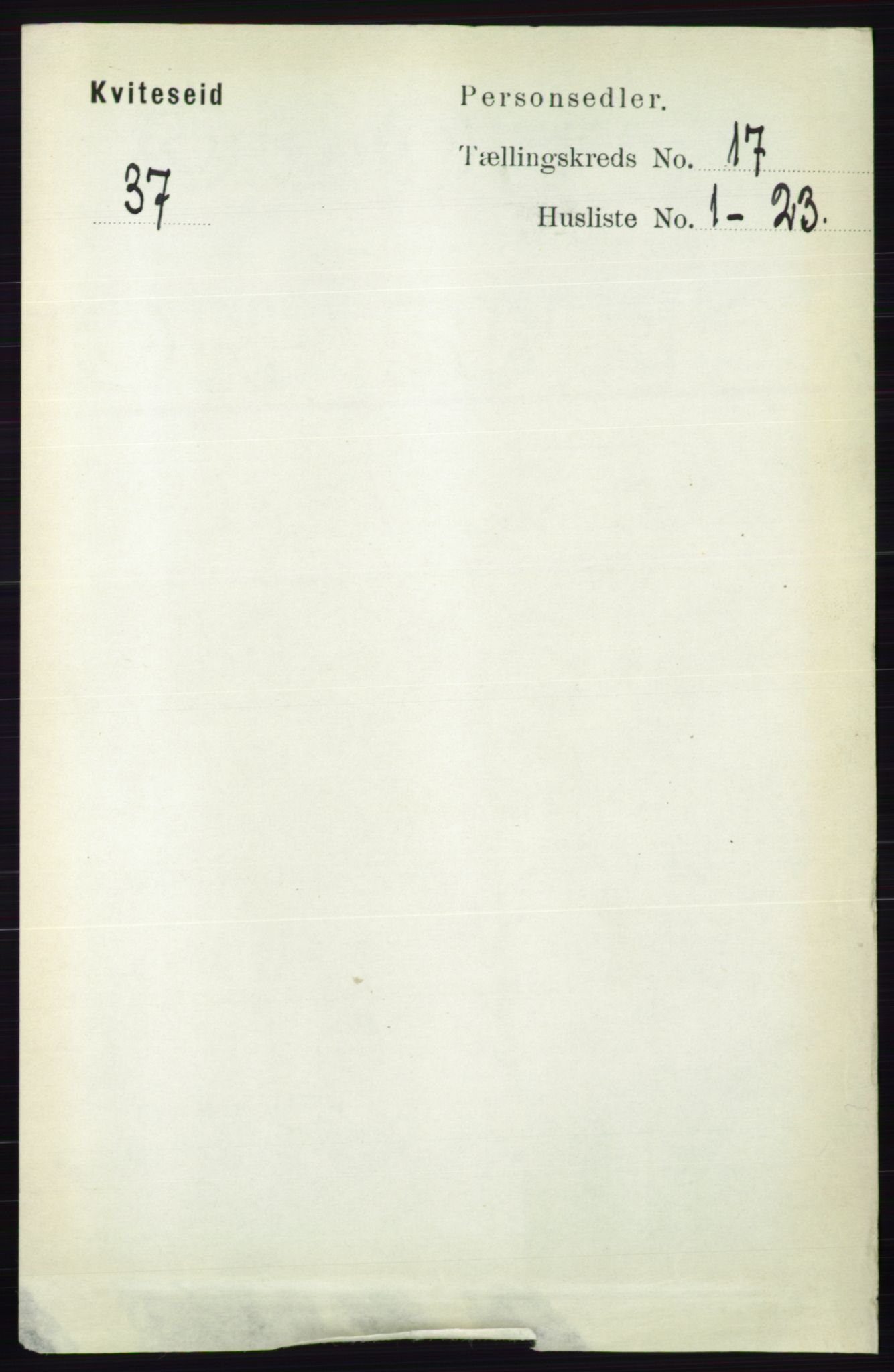 RA, Folketelling 1891 for 0829 Kviteseid herred, 1891, s. 3778