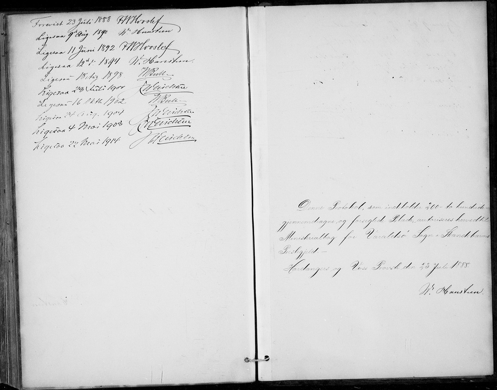 SAB, Strandebarm sokneprestembete, H/Haa: Ministerialbok nr. D  1, 1886-1912