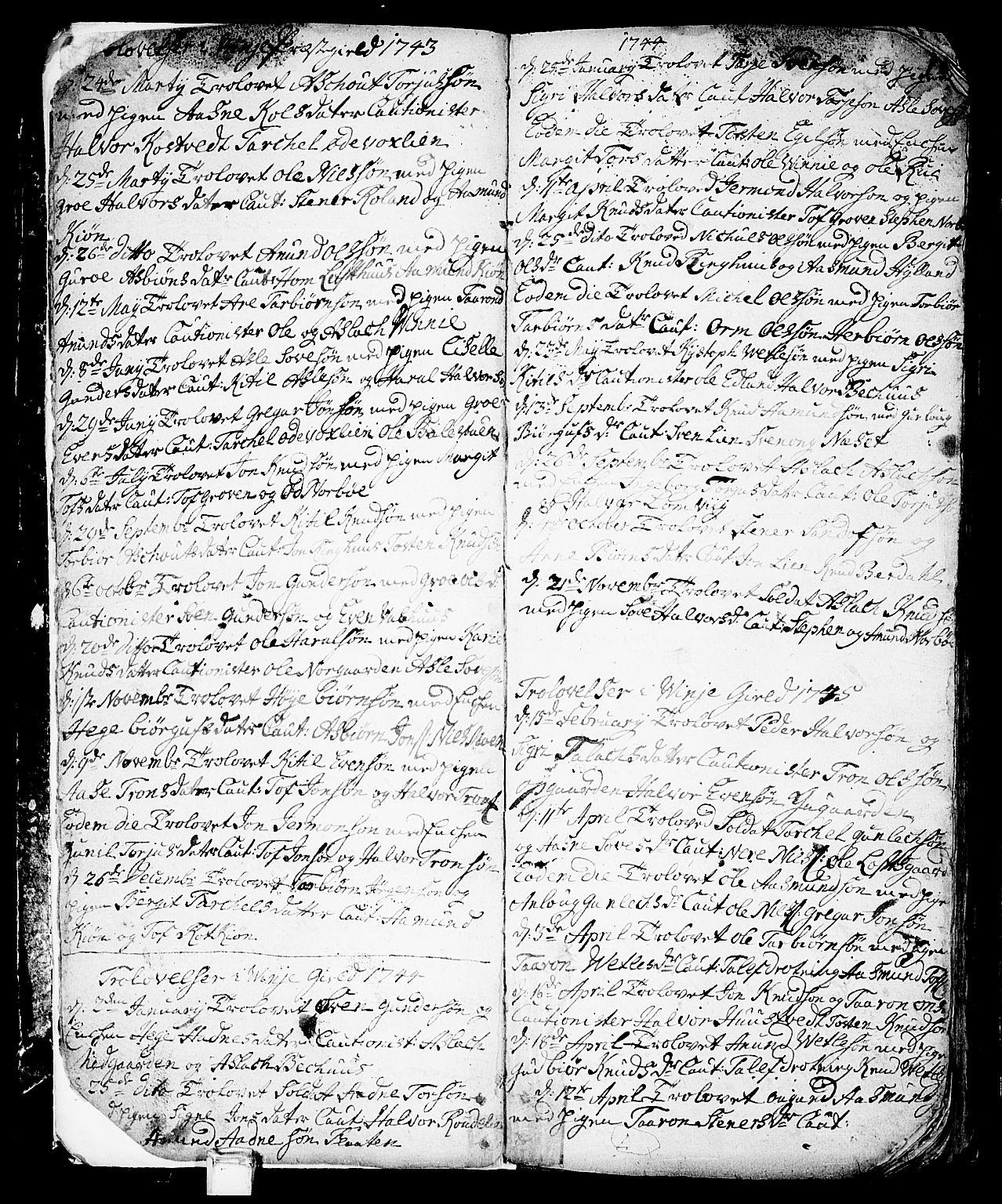 SAKO, Vinje kirkebøker, F/Fa/L0001: Ministerialbok nr. I 1, 1717-1766, s. 9