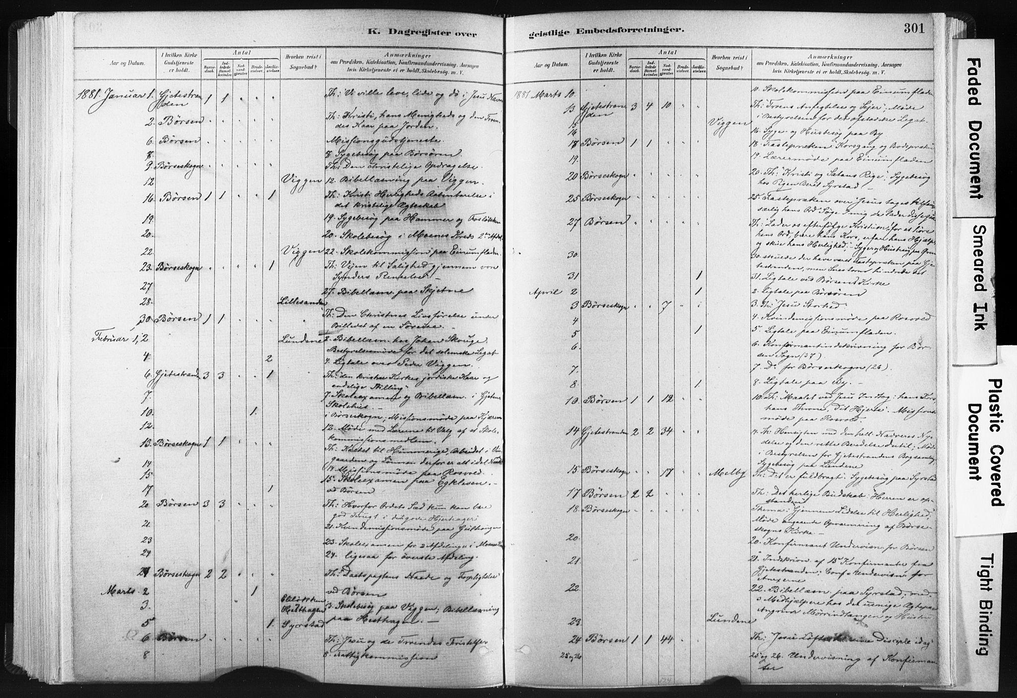 SAT, Ministerialprotokoller, klokkerbøker og fødselsregistre - Sør-Trøndelag, 665/L0773: Ministerialbok nr. 665A08, 1879-1905, s. 301