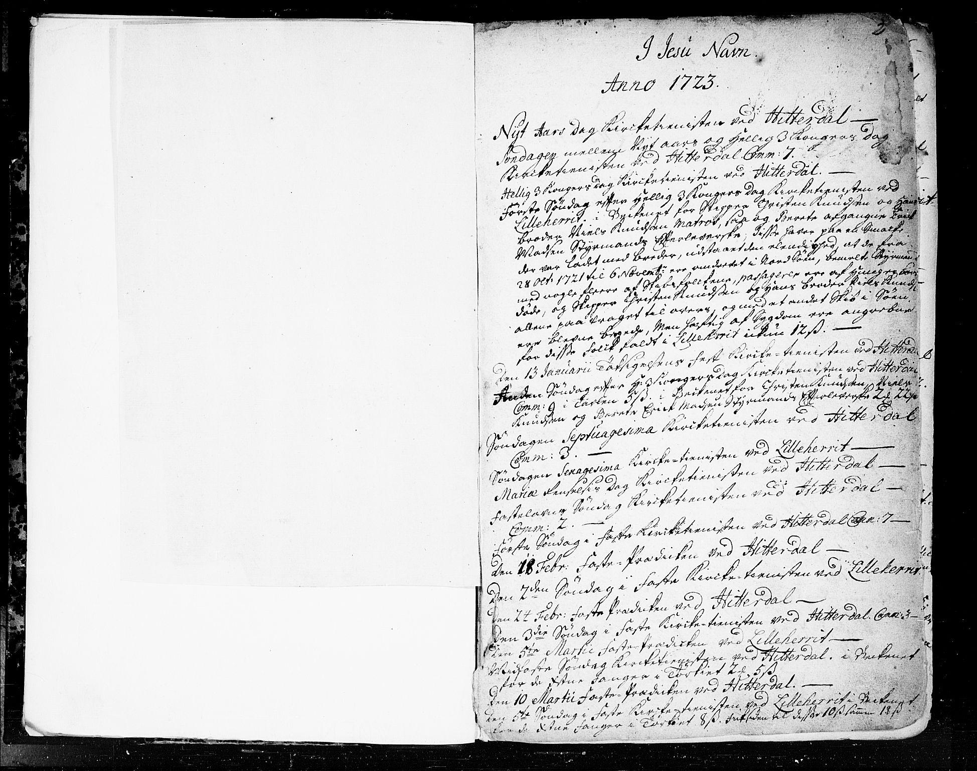 SAKO, Heddal kirkebøker, F/Fa/L0003: Ministerialbok nr. I 3, 1723-1783, s. 2