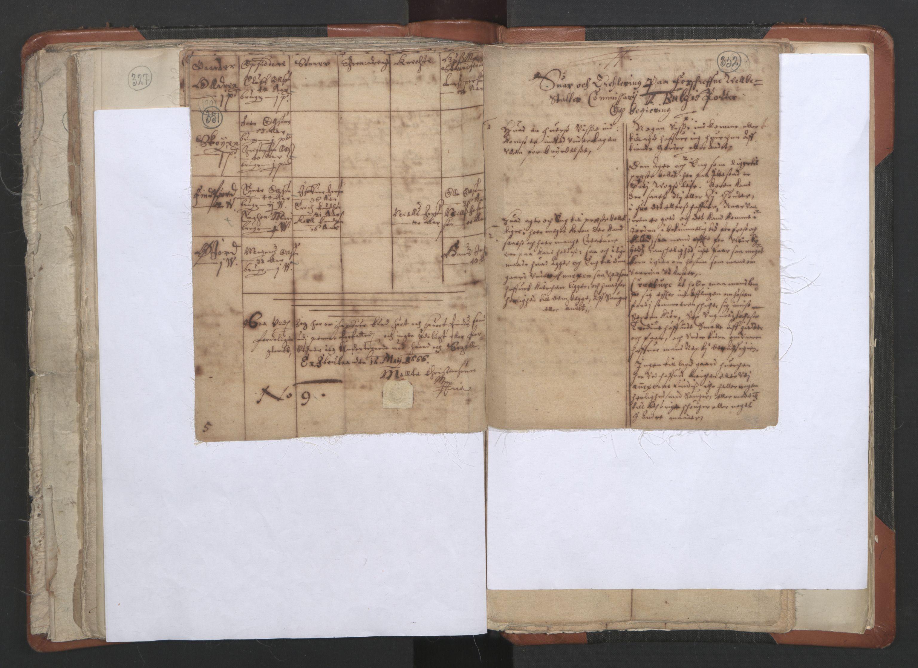 RA, Sogneprestenes manntall 1664-1666, nr. 36: Lofoten og Vesterålen prosti, Senja prosti og Troms prosti, 1664-1666, s. 351-352
