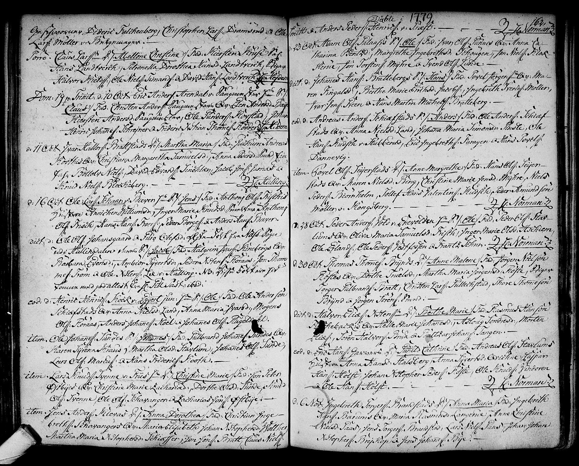 SAKO, Kongsberg kirkebøker, F/Fa/L0005: Ministerialbok nr. I 5, 1769-1782, s. 162