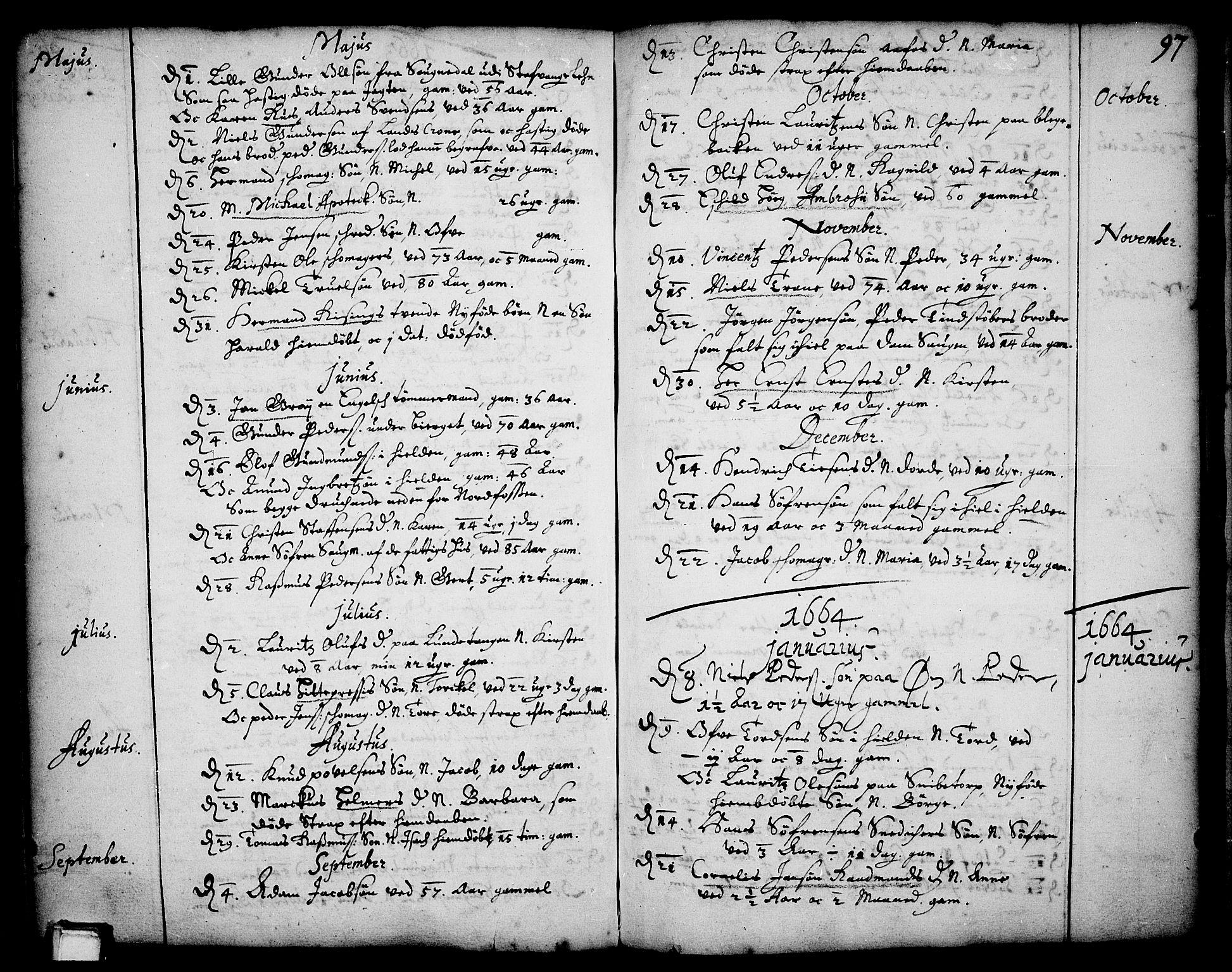 SAKO, Skien kirkebøker, F/Fa/L0001: Ministerialbok nr. 1, 1659-1679, s. 97