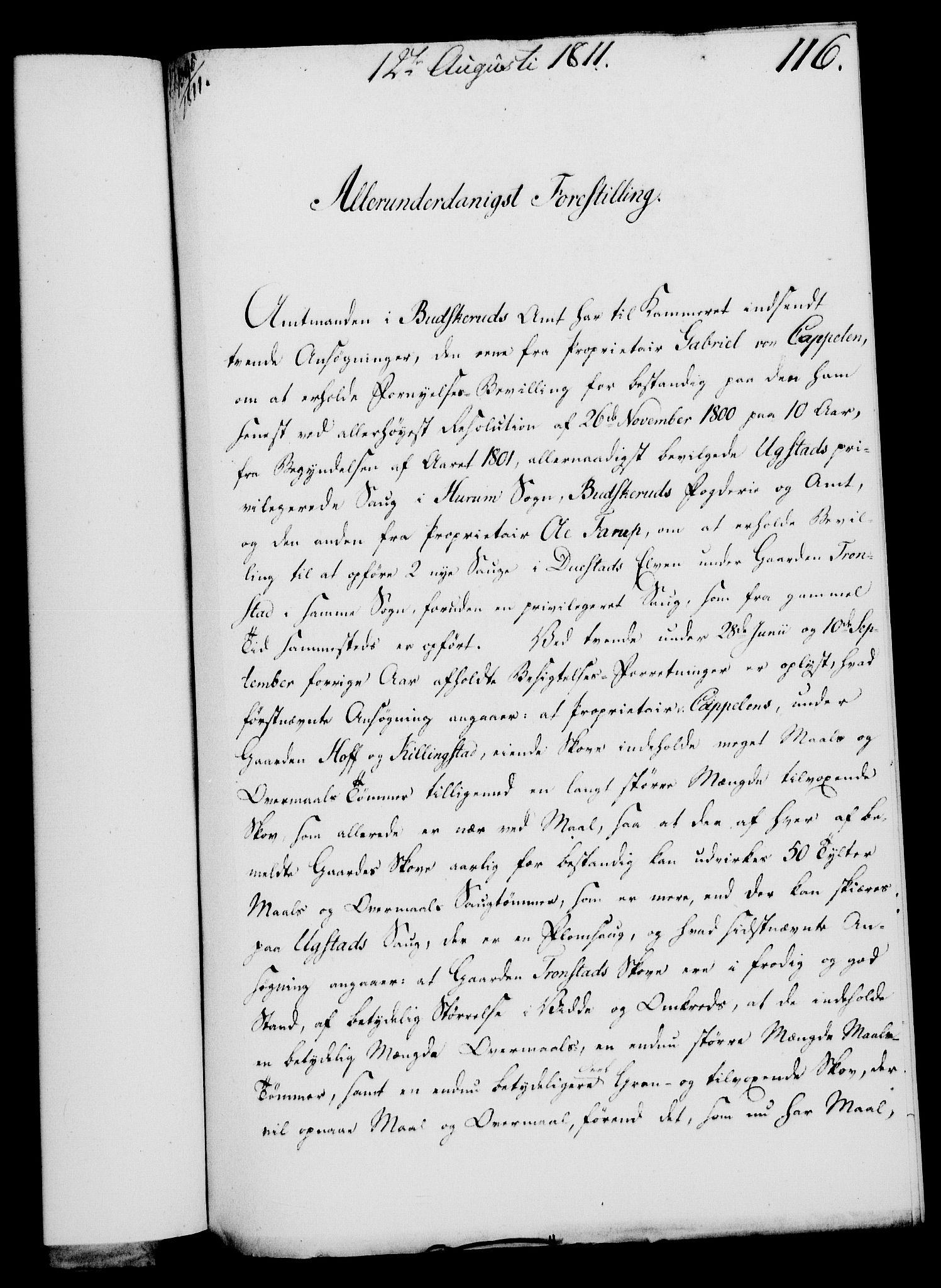 RA, Rentekammeret, Kammerkanselliet, G/Gf/Gfa/L0093: Norsk relasjons- og resolusjonsprotokoll (merket RK 52.93), 1811, s. 471