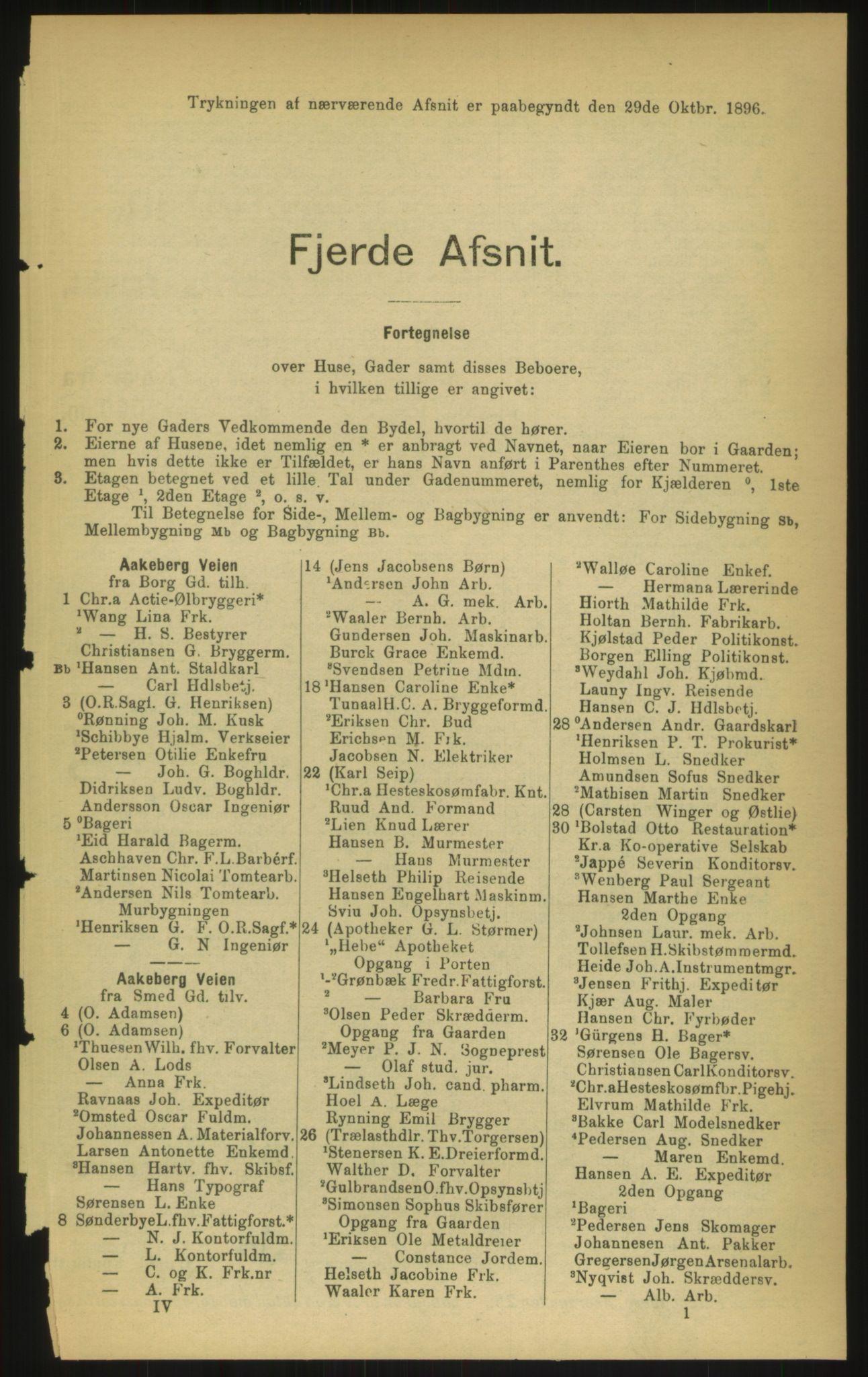 PUBL, Kristiania/Oslo adressebok, 1897, s. 609