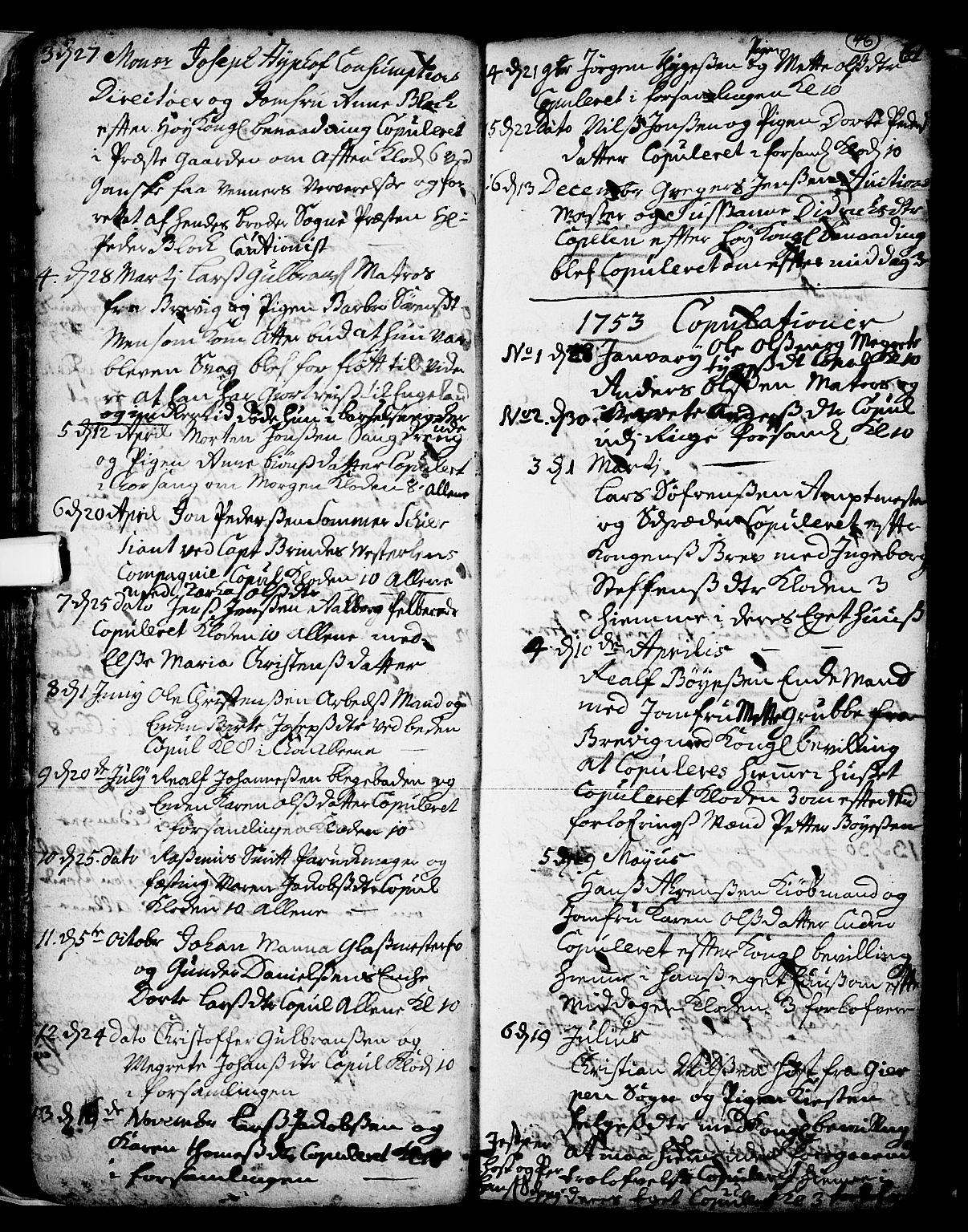 SAKO, Skien kirkebøker, F/Fa/L0002: Ministerialbok nr. 2, 1716-1757, s. 46