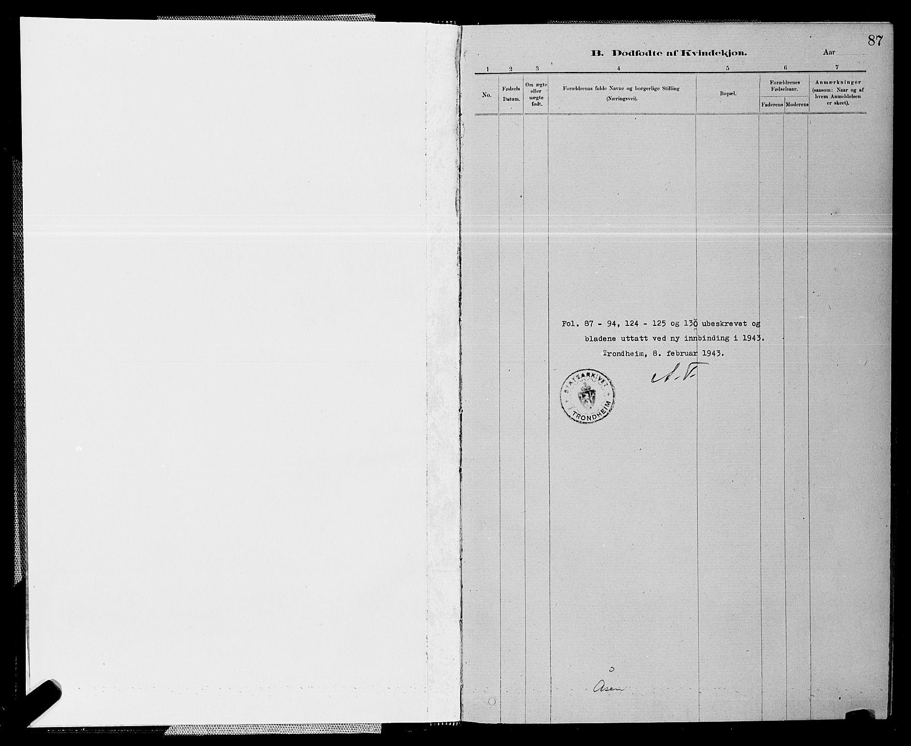SAT, Ministerialprotokoller, klokkerbøker og fødselsregistre - Nord-Trøndelag, 714/L0134: Klokkerbok nr. 714C03, 1878-1898, s. 87