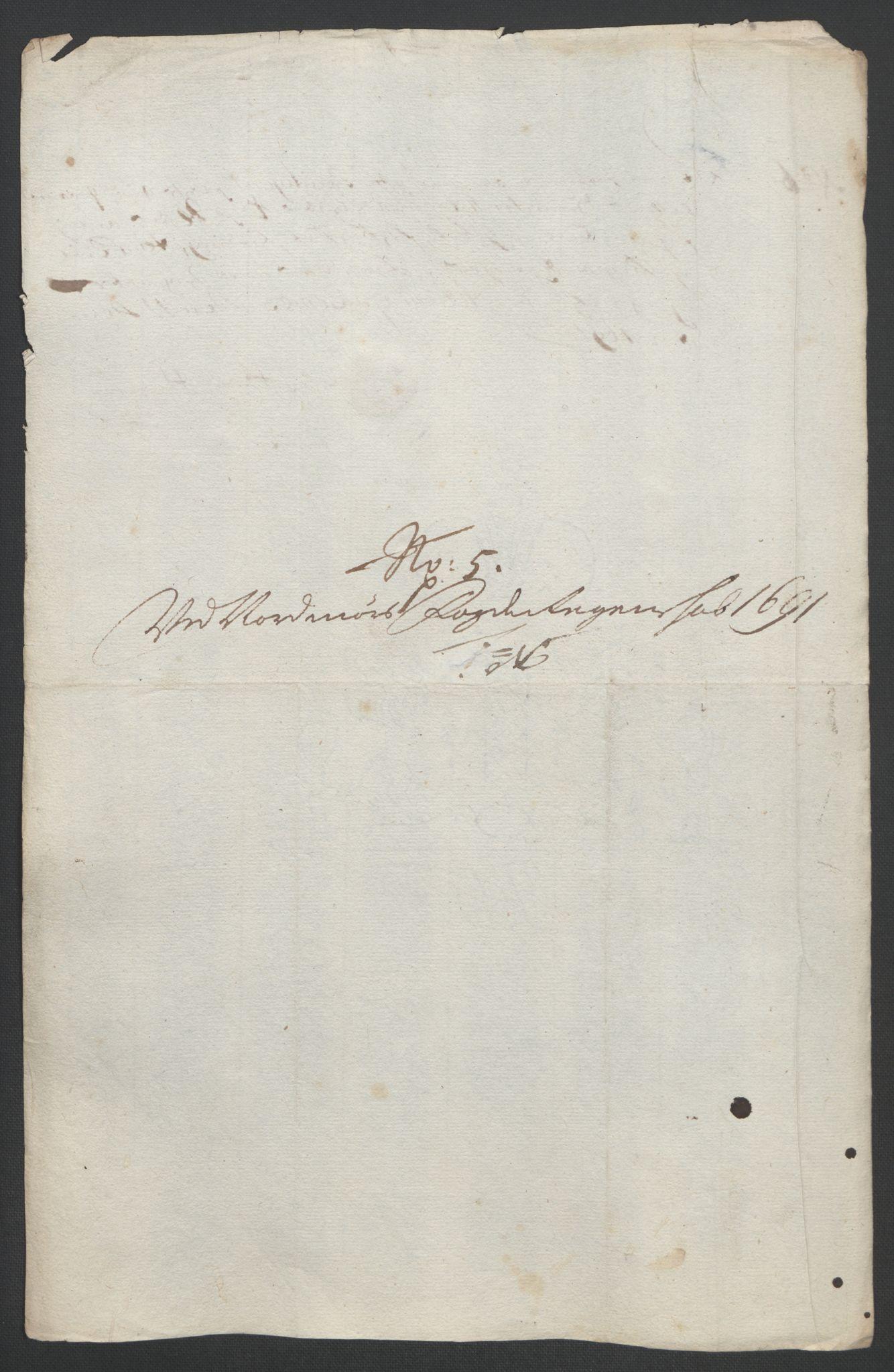 RA, Rentekammeret inntil 1814, Reviderte regnskaper, Fogderegnskap, R56/L3734: Fogderegnskap Nordmøre, 1690-1691, s. 412