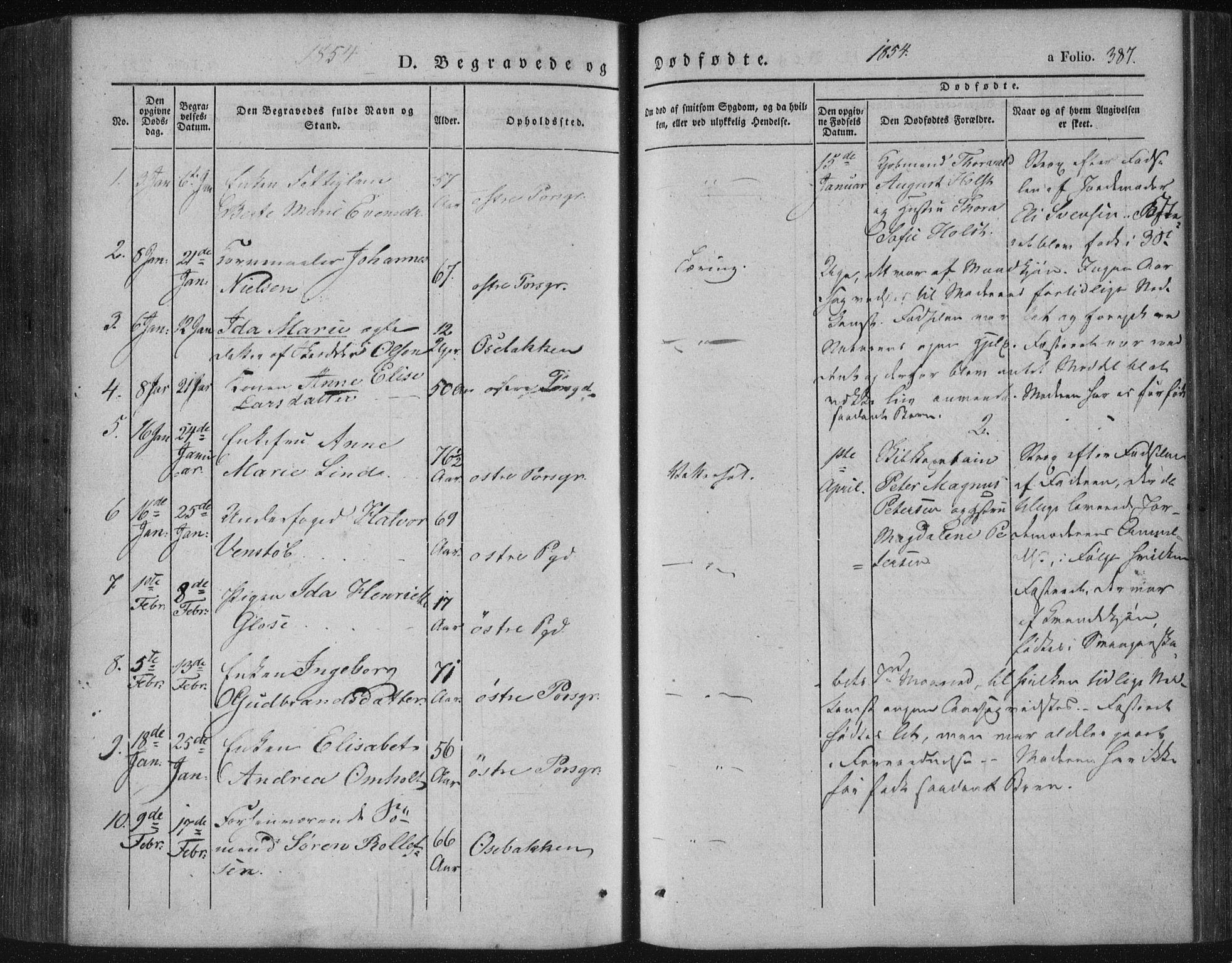 SAKO, Porsgrunn kirkebøker , F/Fa/L0006: Ministerialbok nr. 6, 1841-1857, s. 387
