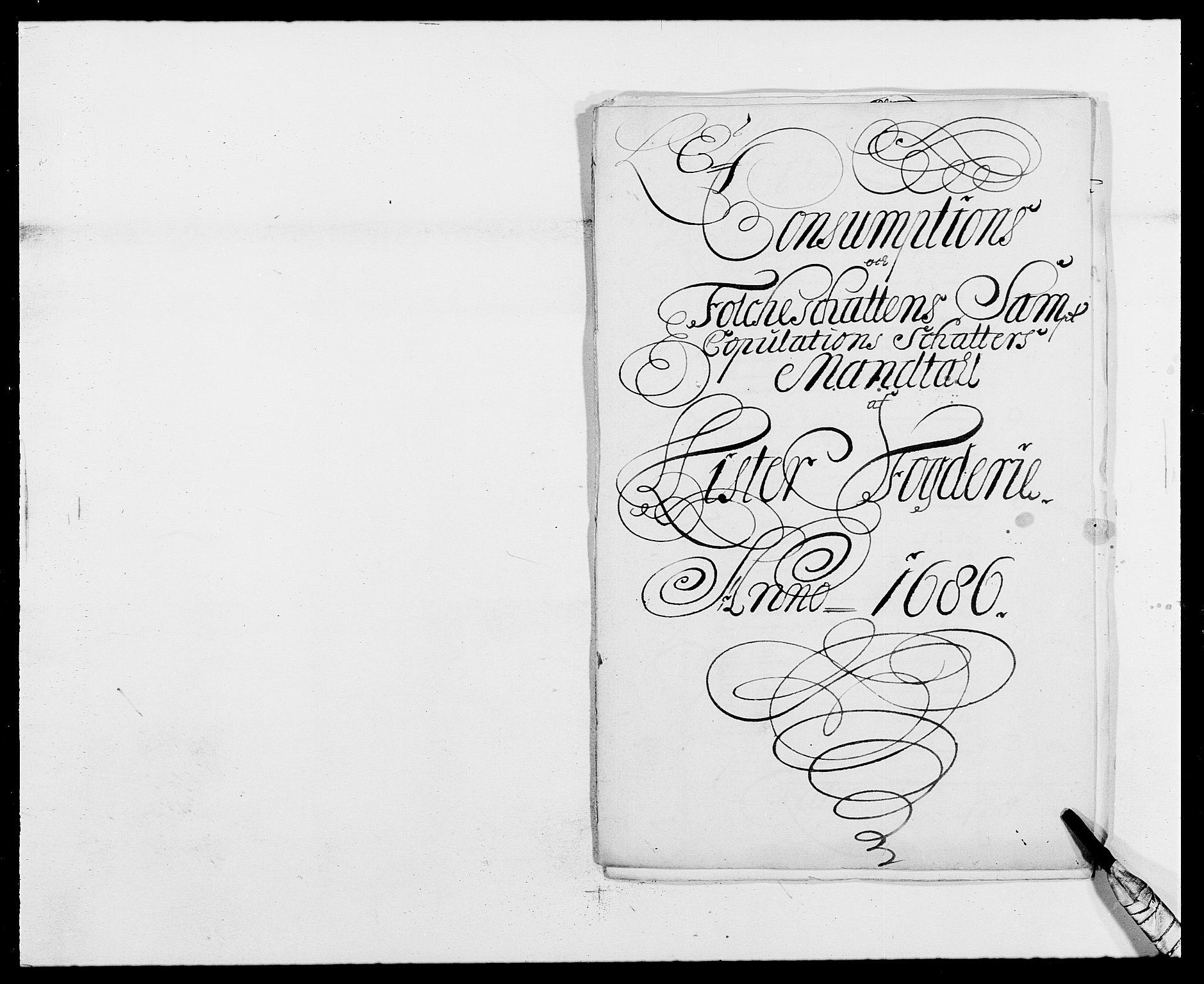 RA, Rentekammeret inntil 1814, Reviderte regnskaper, Fogderegnskap, R41/L2534: Fogderegnskap Lista, 1686-1688, s. 69