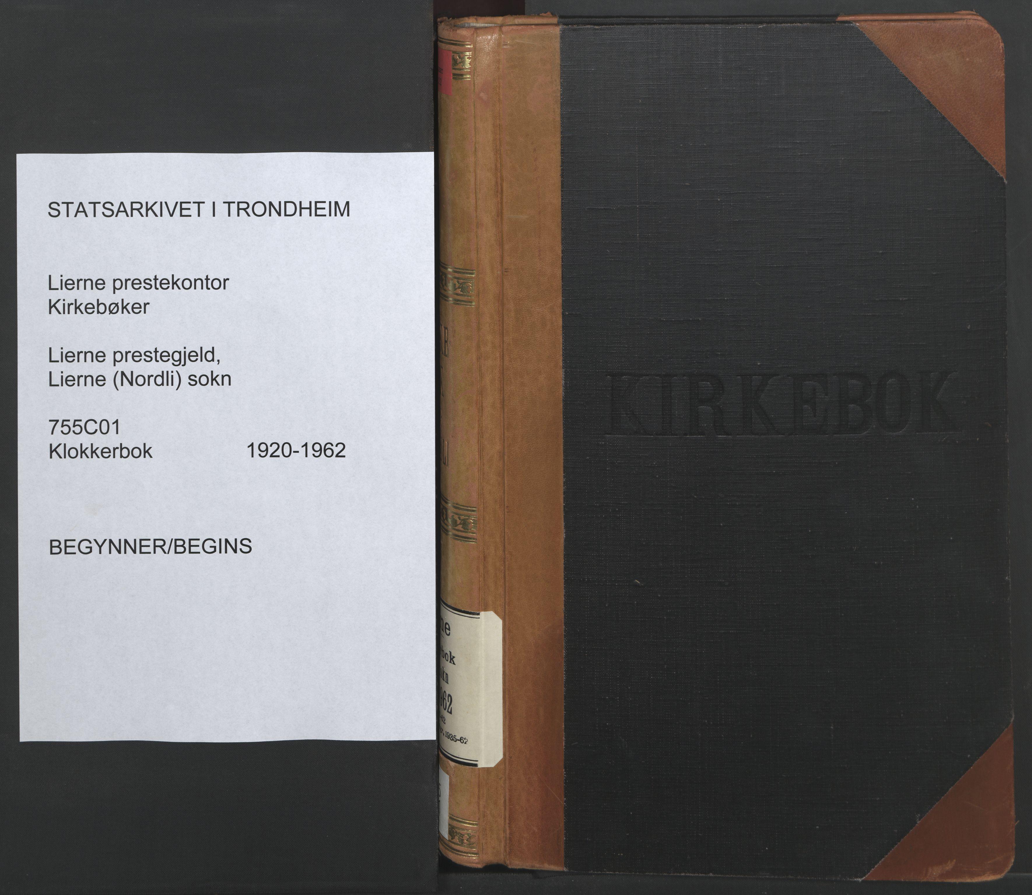 SAT, Ministerialprotokoller, klokkerbøker og fødselsregistre - Nord-Trøndelag, 755/L0500: Klokkerbok nr. 755C01, 1920-1962