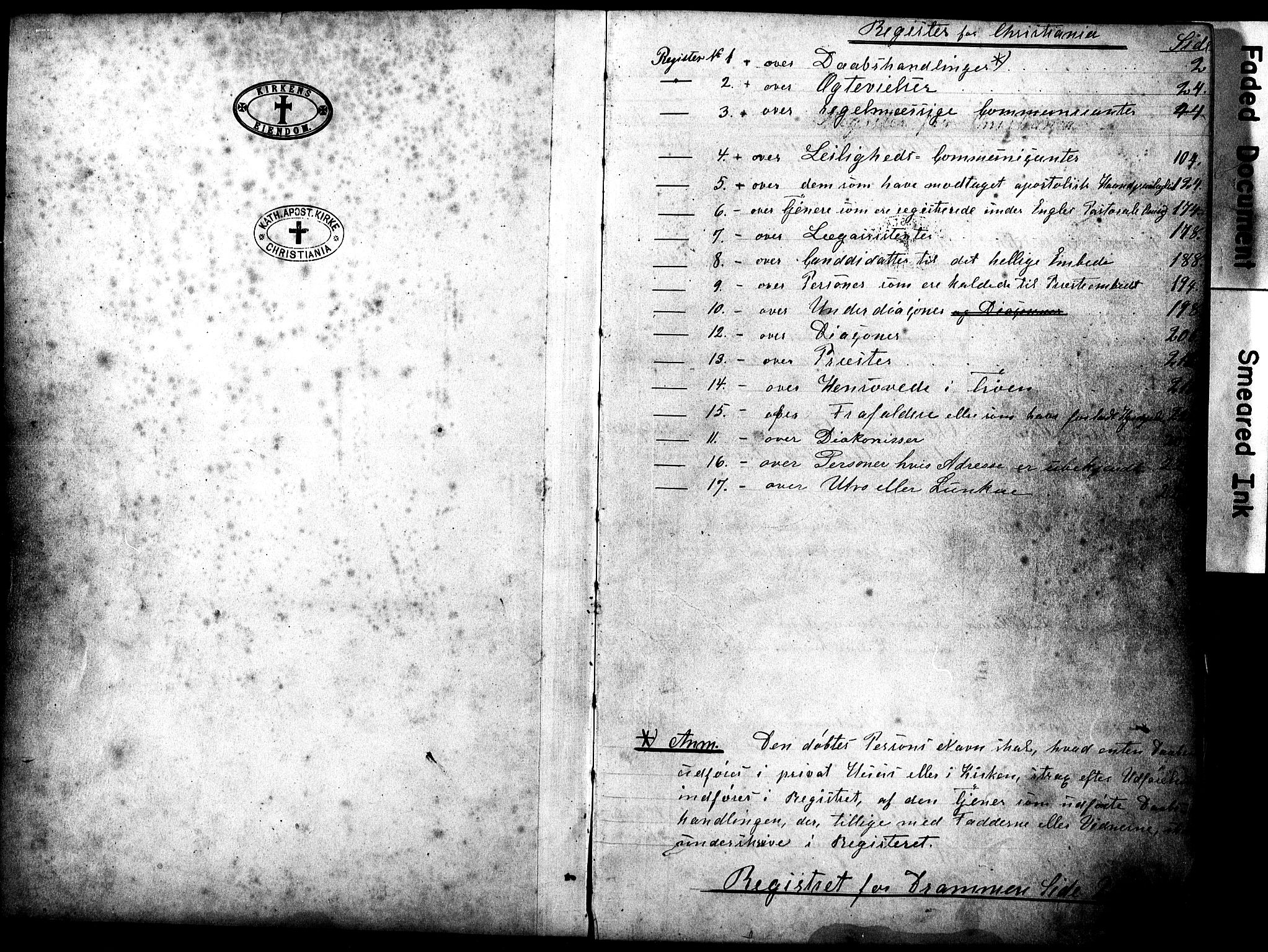 SAO, Den katolsk apostoliske menighet i Oslo , F/Fb/L0001: Dissenterprotokoll nr. 1, 1877-1894